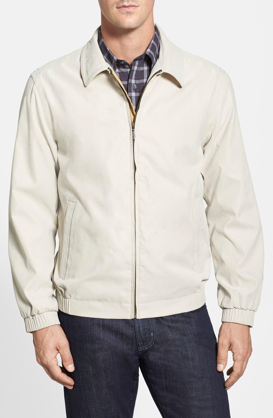 'Microseta' Lightweight Golf Jacket,                         Main,                         color, Bone Beige