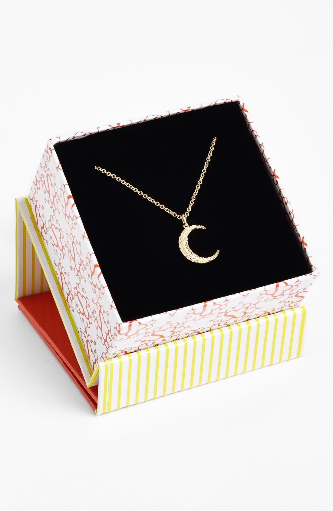 Alternate Image 3  - Sugar Bean Jewelry Pavé Crescent Pendant Necklace