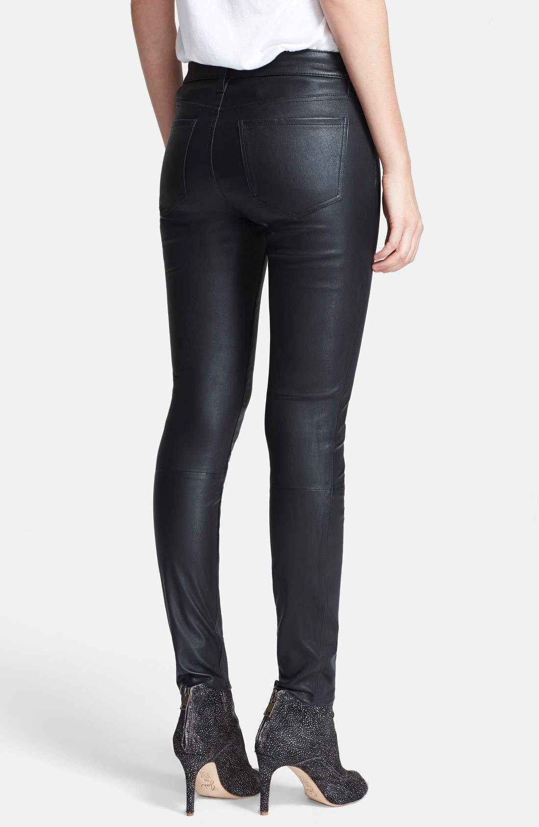 Alternate Image 2  - Joie Leather Skinny Pants