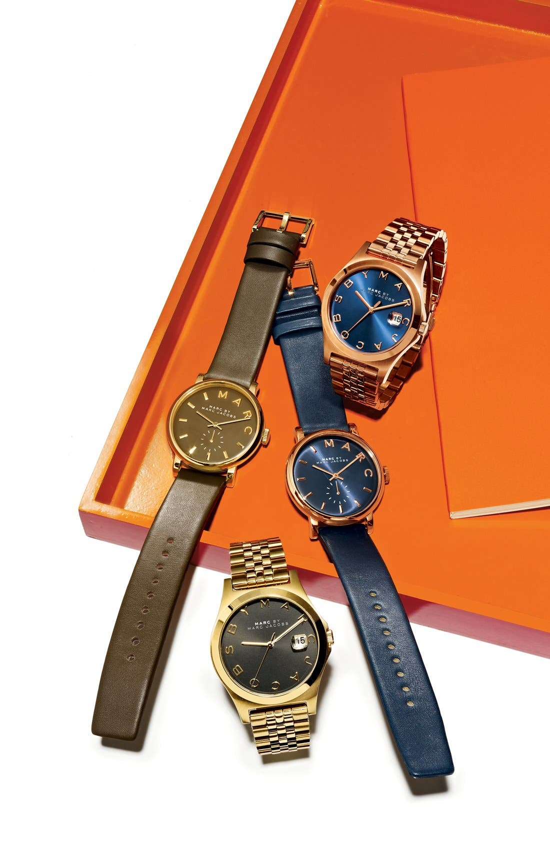 Alternate Image 7  - MARC JACOBS 'Baker' Leather Strap Watch, 37mm