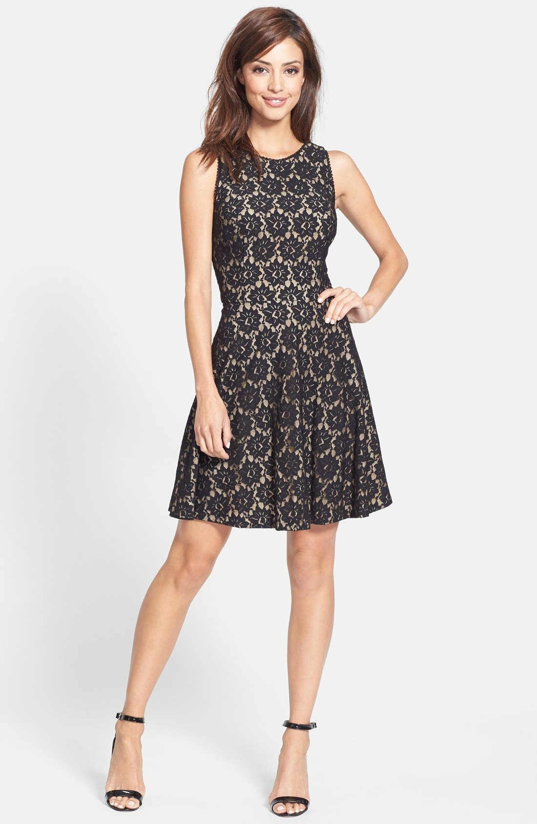 Alternate Image 3  - Nicole Miller Lace Fit & Flare Dress