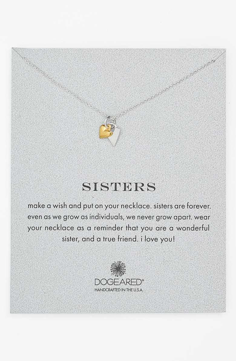 Dogeared reminder sisters pendant necklace nordstrom reminder sisters pendant necklace aloadofball Image collections