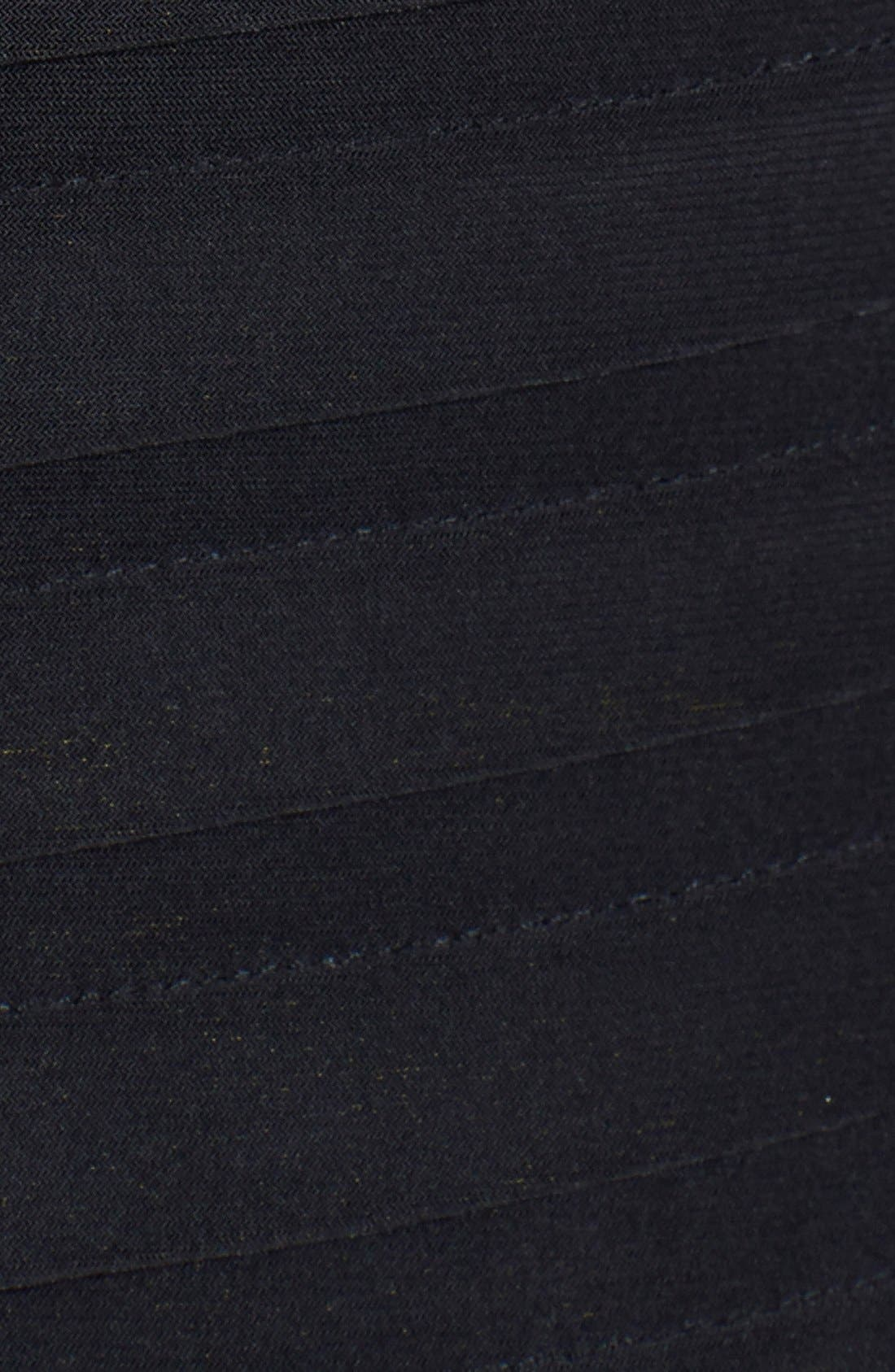 Soutache Shutter Pleat Sheath Dress,                             Alternate thumbnail 4, color,                             Black