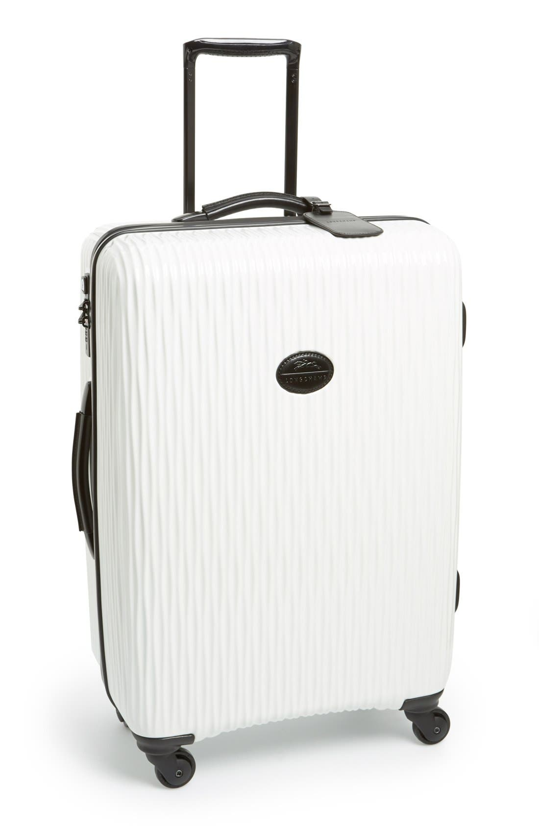 Alternate Image 1 Selected - Longchamp 'Medium Fairval' Four-Wheel Hard Shell Suitcase (28 Inch)