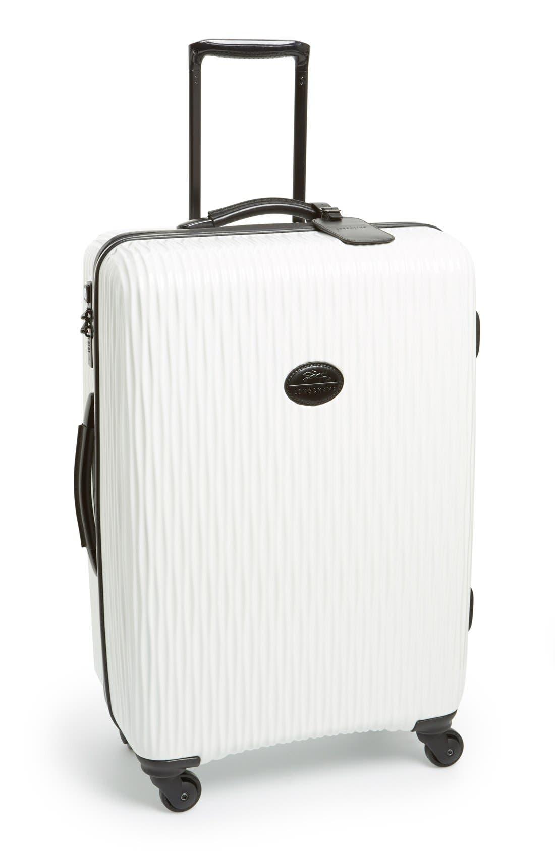 Main Image - Longchamp 'Medium Fairval' Four-Wheel Hard Shell Suitcase (28 Inch)