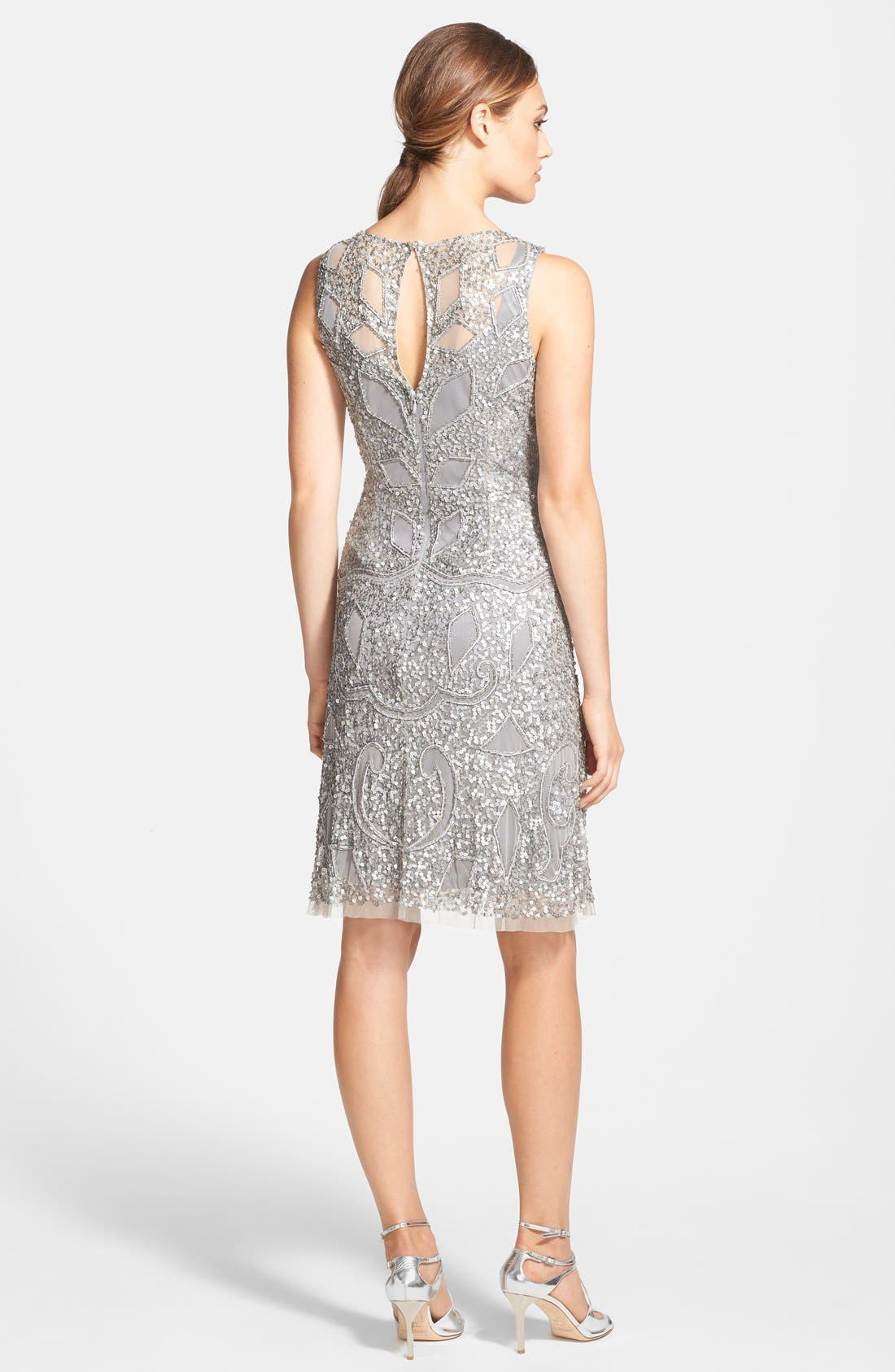 Alternate Image 2  - Aidan Mattox Cutout Bodice Embellished Dress