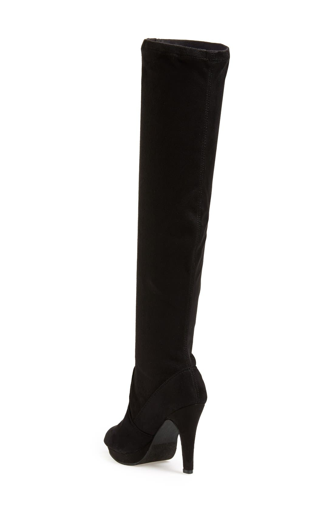 REPORT 'Nadya' Over The Knee Boot,                             Alternate thumbnail 2, color,                             Black