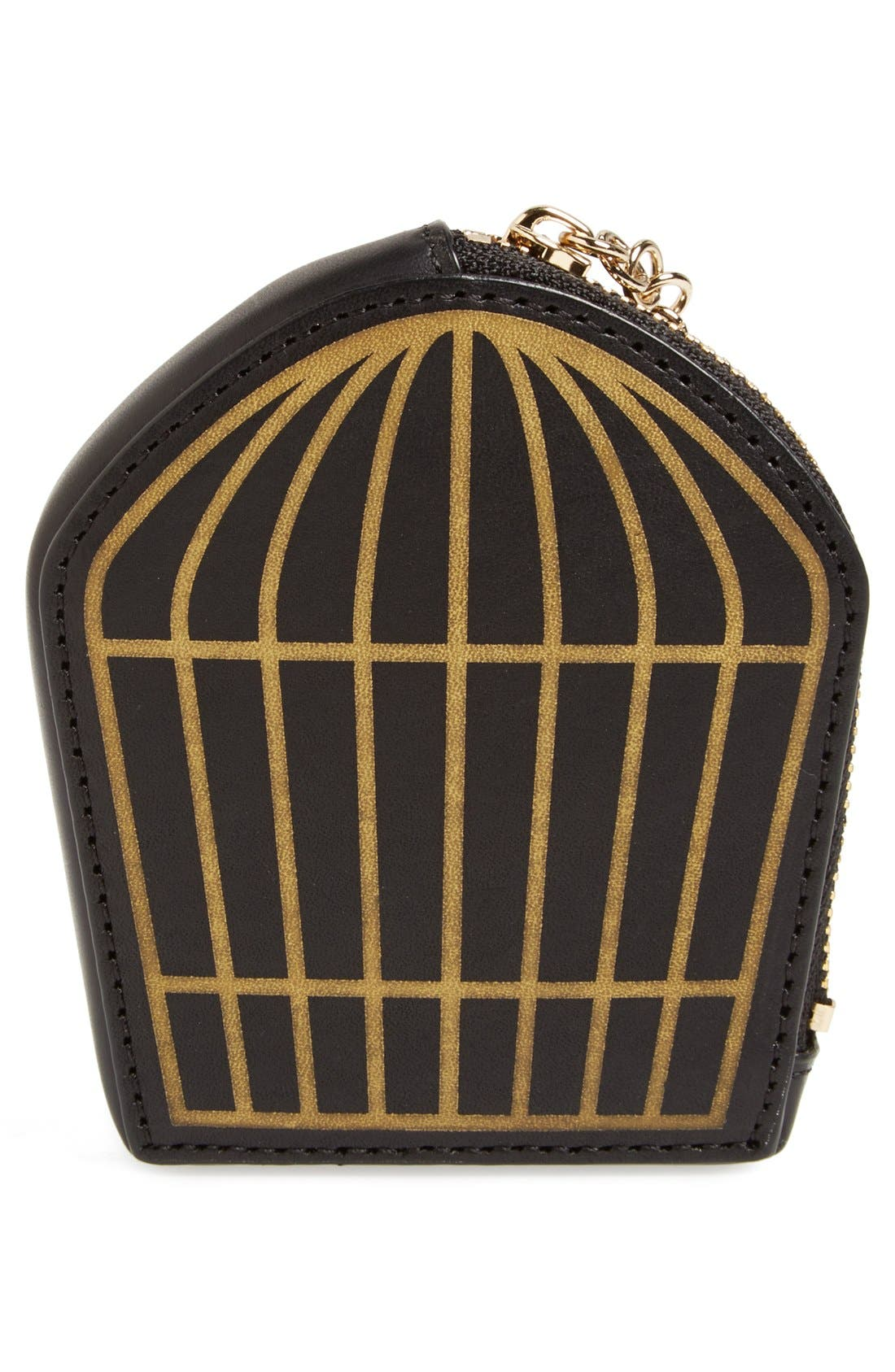 Alternate Image 3  - kate spade new york 'hello shanghai - birdcage' coin pouch