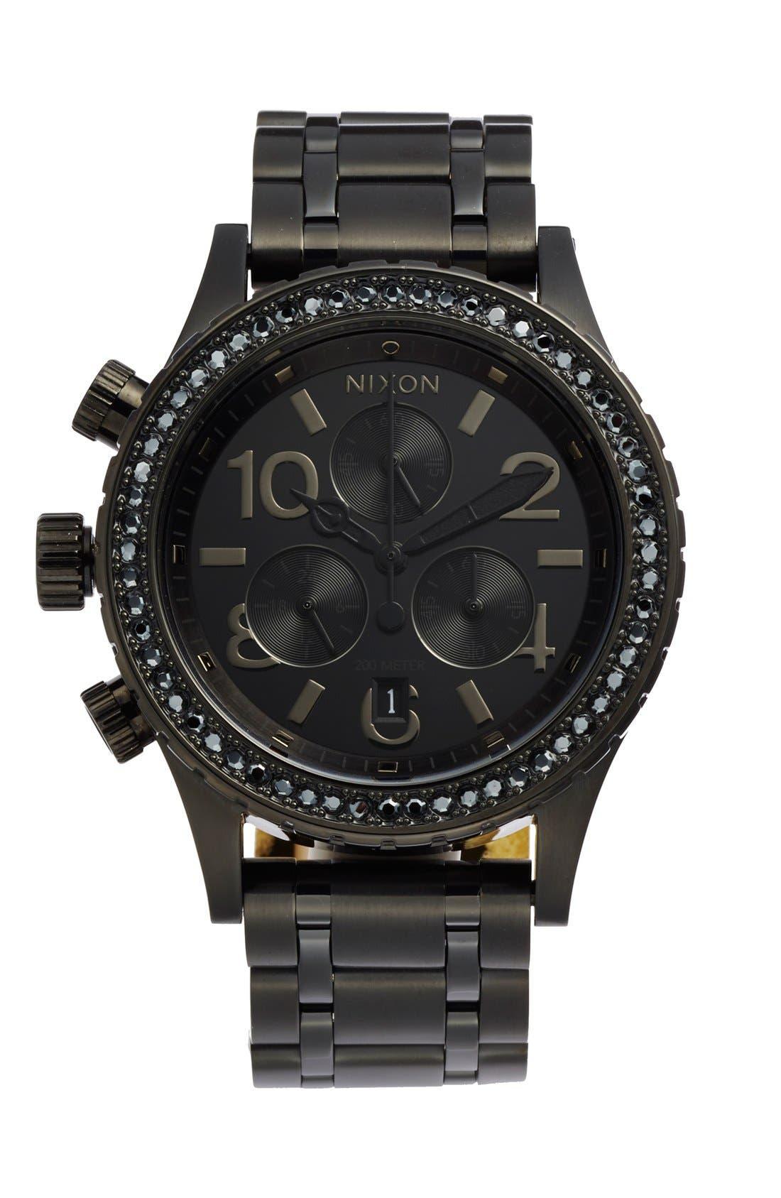 NIXON The 38-20 Crystal Bezel Chronograph Bracelet Watch, 38mm