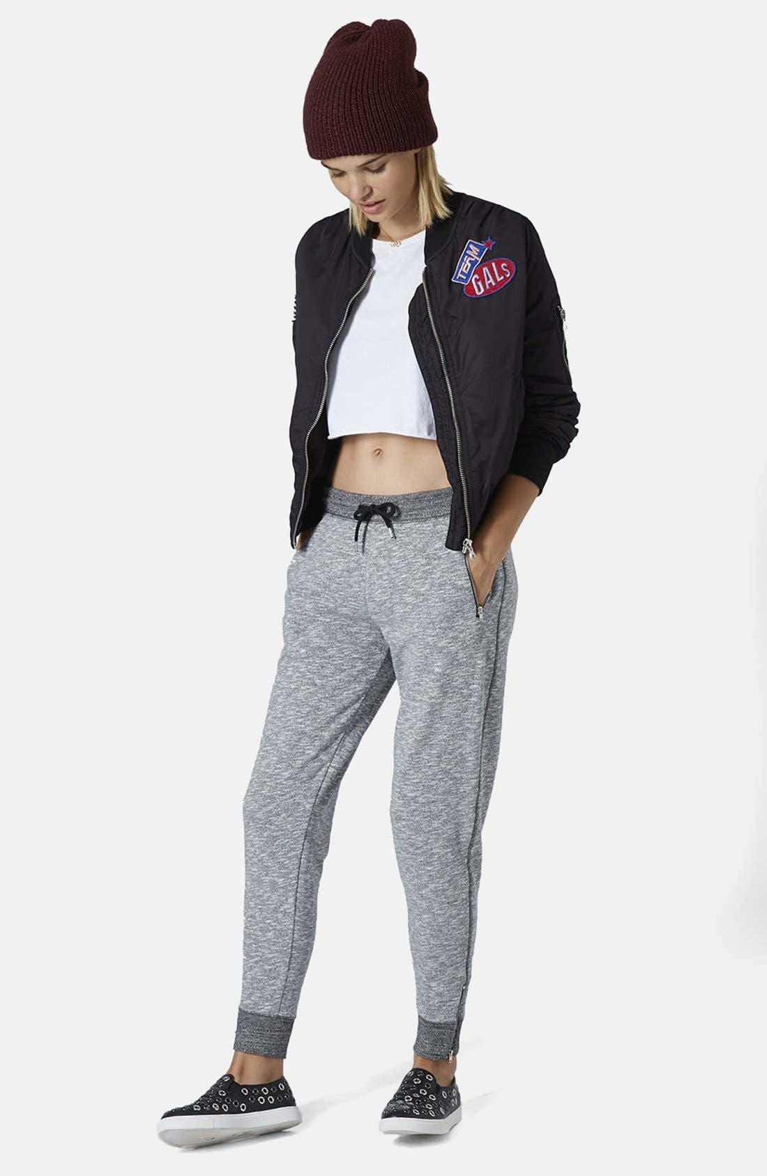 Alternate Image 5  - Topshop Marled Jogger Pants