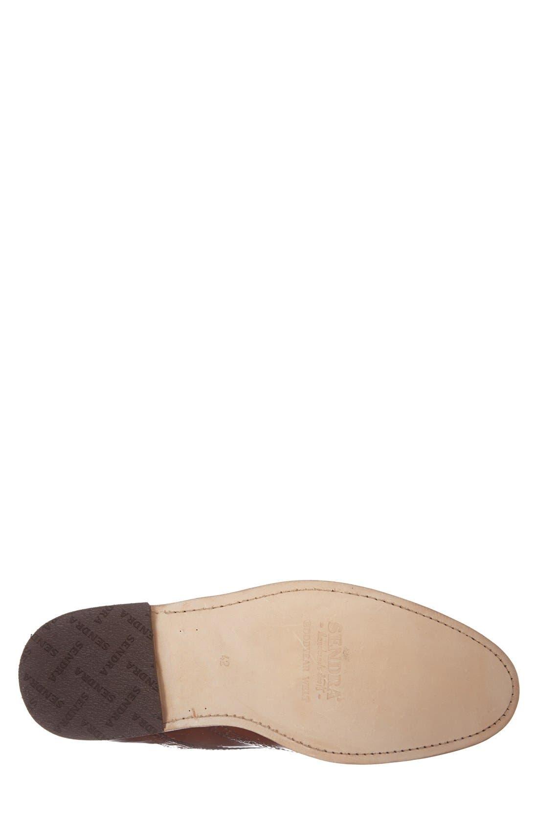 'Newport' Wingtip Boot,                             Alternate thumbnail 4, color,                             Cognac