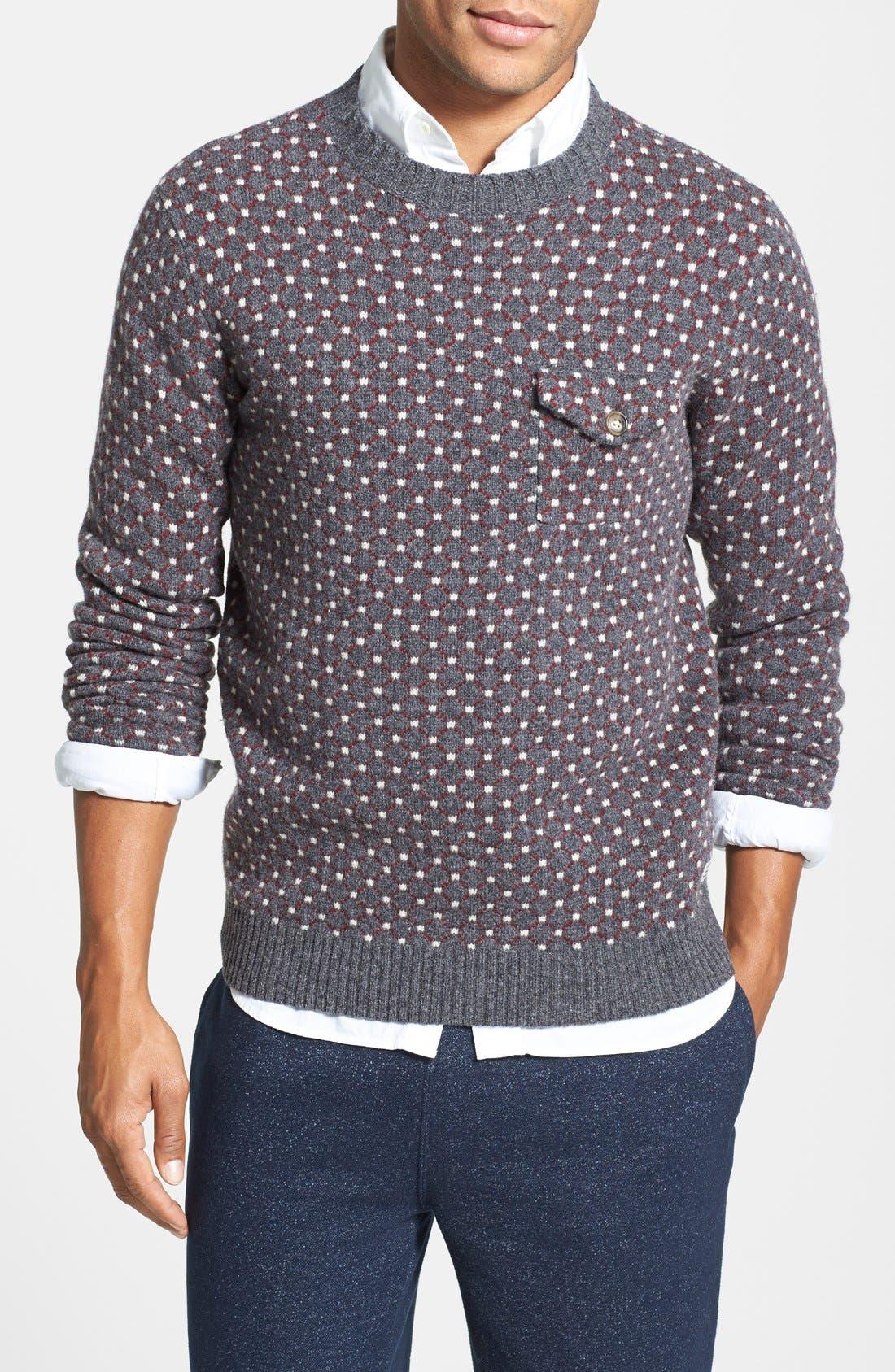 Gant Fair Isle Pocket Wool Sweater | Nordstrom