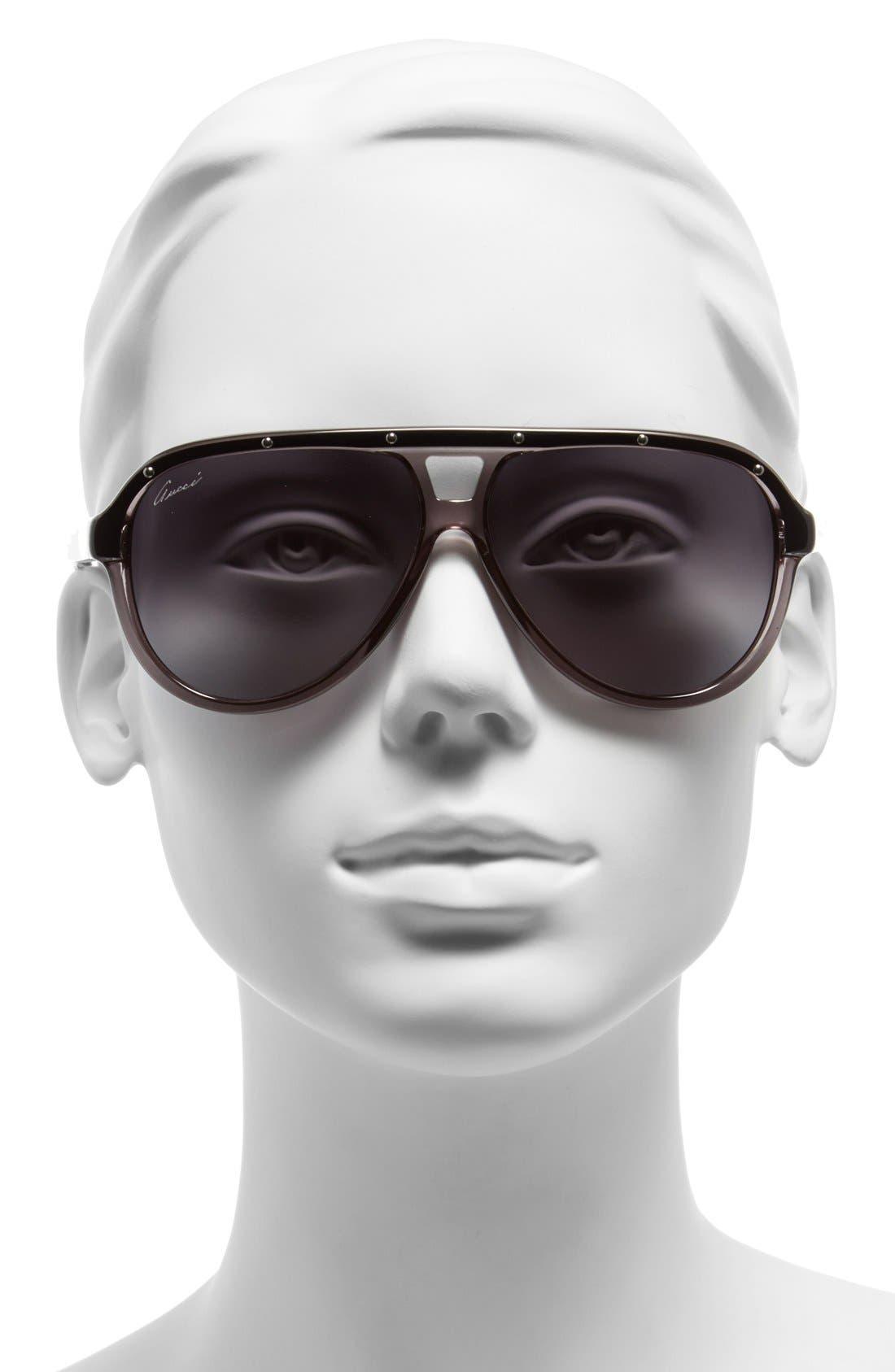 Alternate Image 2  - Gucci 59mm Aviator Sunglasses