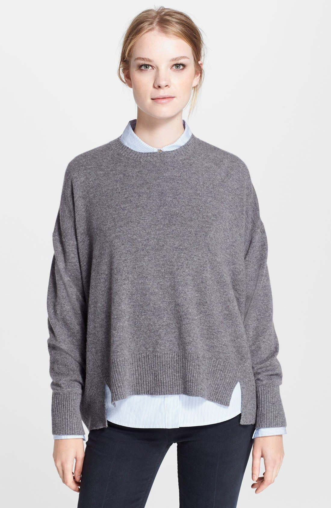 Alternate Image 1 Selected - MARC BY MARC JACOBS 'Jo' Front Slit Cashmere Sweater