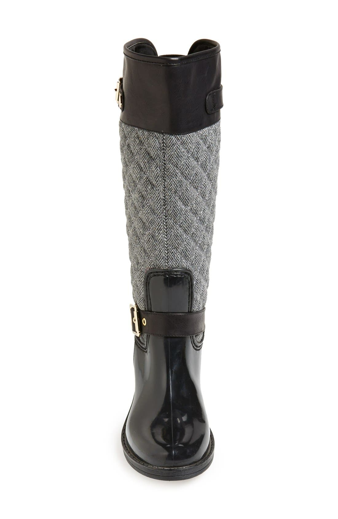 Alternate Image 3  - Posh Wellies 'Peacon' Quilted Tall Rain Boot (Women)