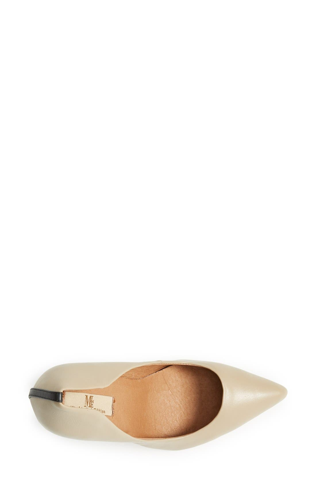 'Jolie' Pointy Toe Pump,                             Alternate thumbnail 3, color,                             Taupe