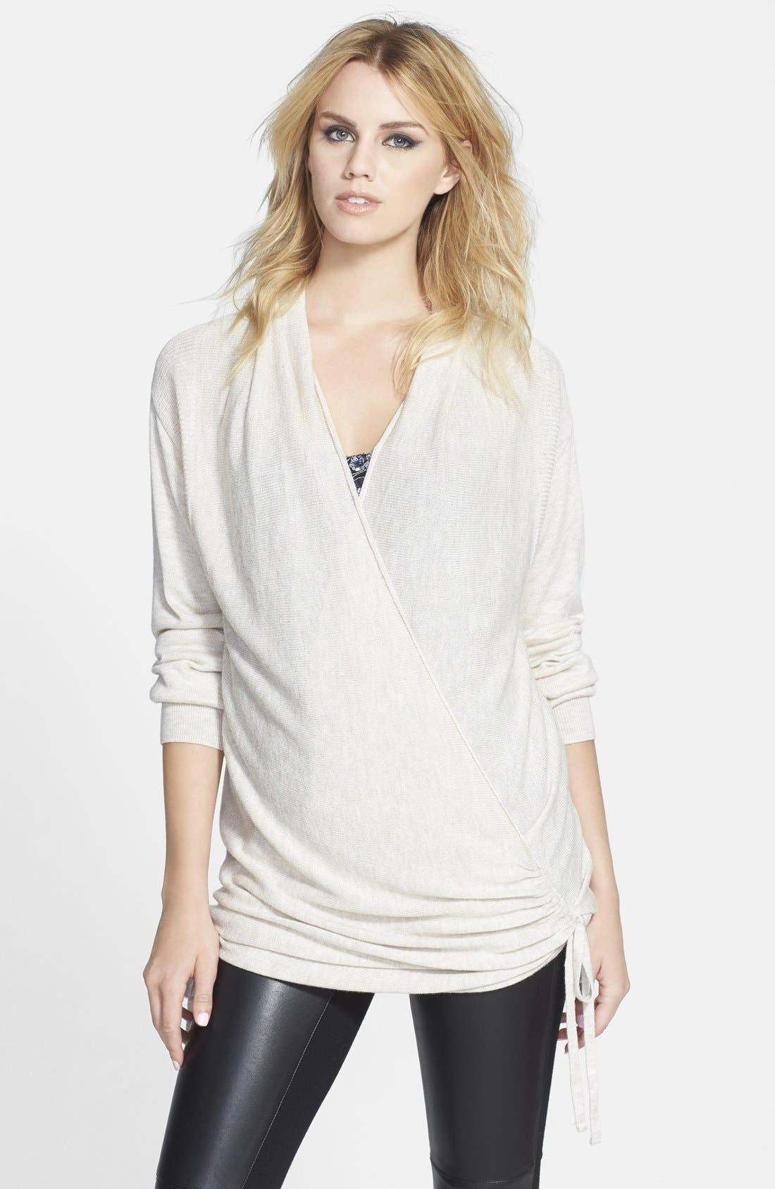 Alternate Image 1 Selected - Leith Side Tie Wrap Sweater