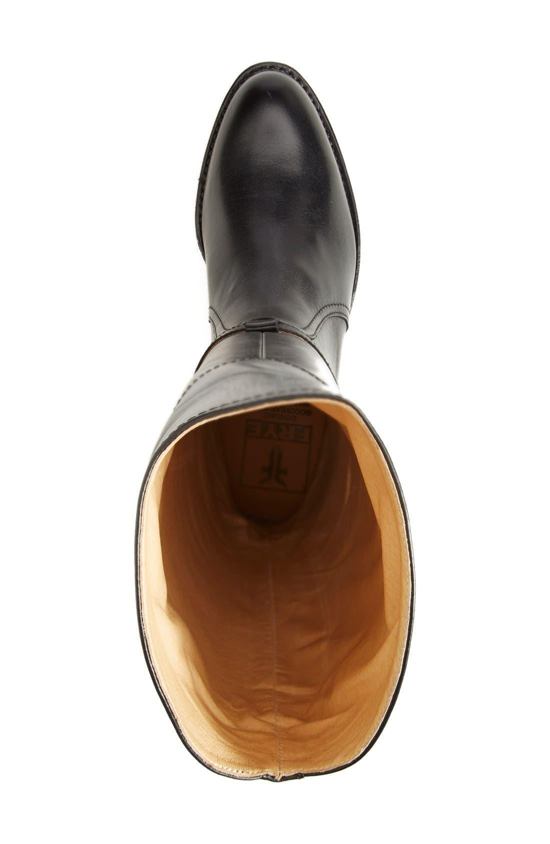 'Dorado' Leather Riding Boot,                             Alternate thumbnail 3, color,                             Black