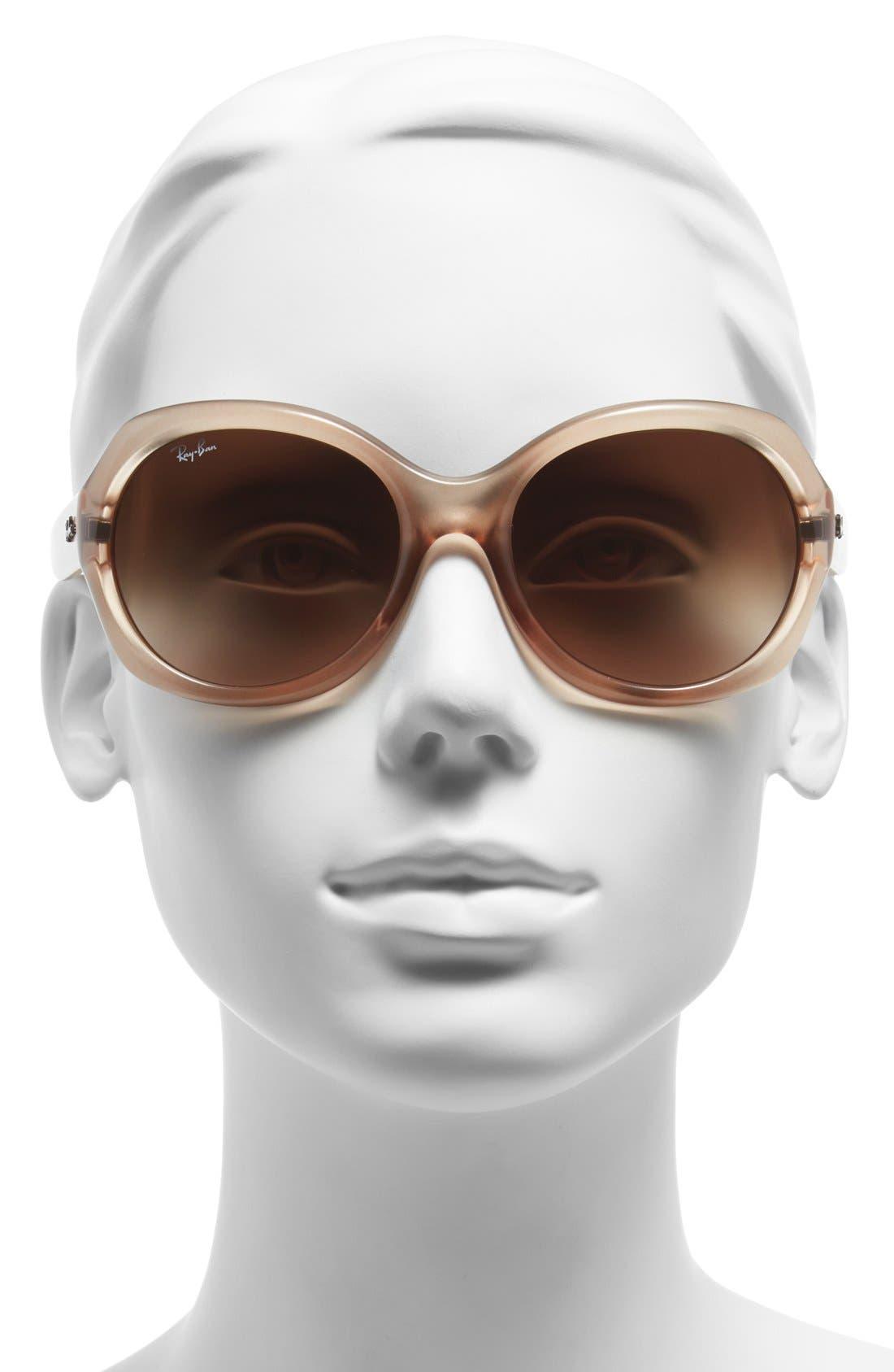 Alternate Image 2  - Ray-Ban 57mm Round Gradient Sunglasses