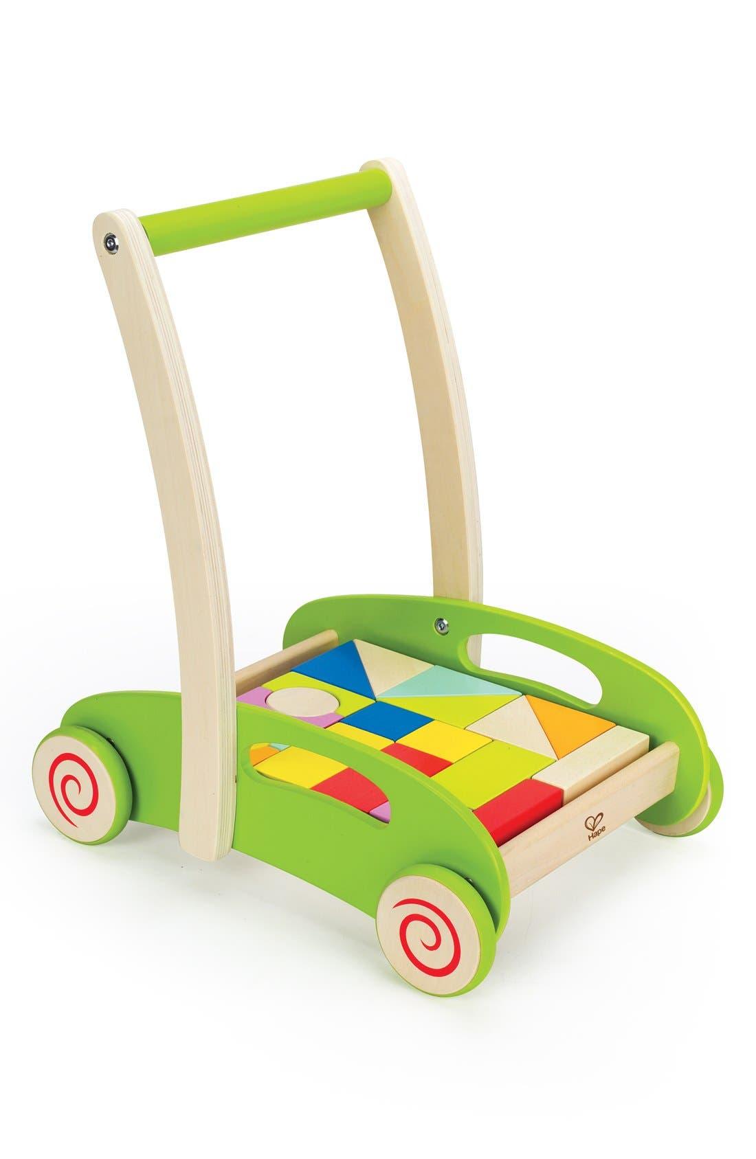 'Block & Roll' Push Toy,                             Main thumbnail 1, color,                             Green