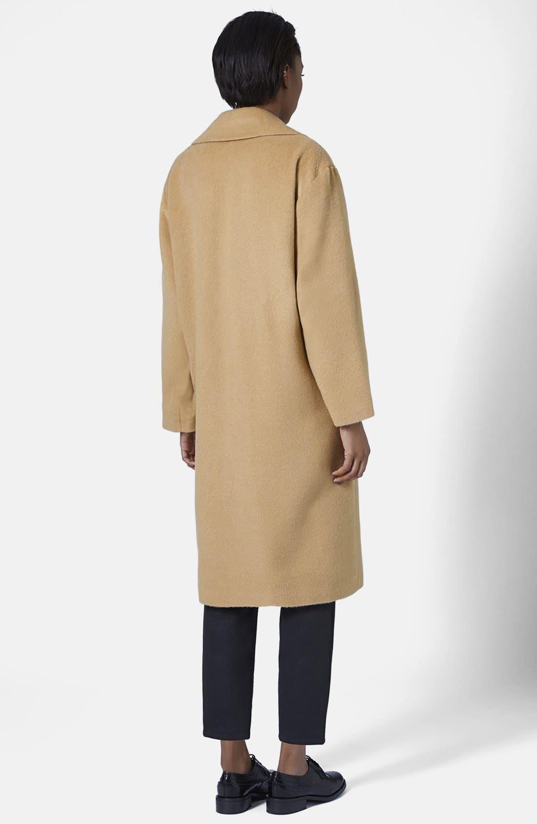 Alternate Image 2  - Topshop Longline Coat