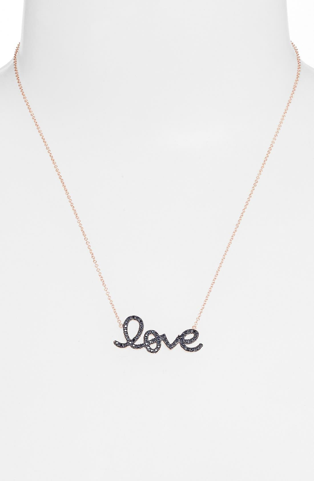 Alternate Image 2  - Sugar Bean Jewelry 'Love' Pendant Necklace