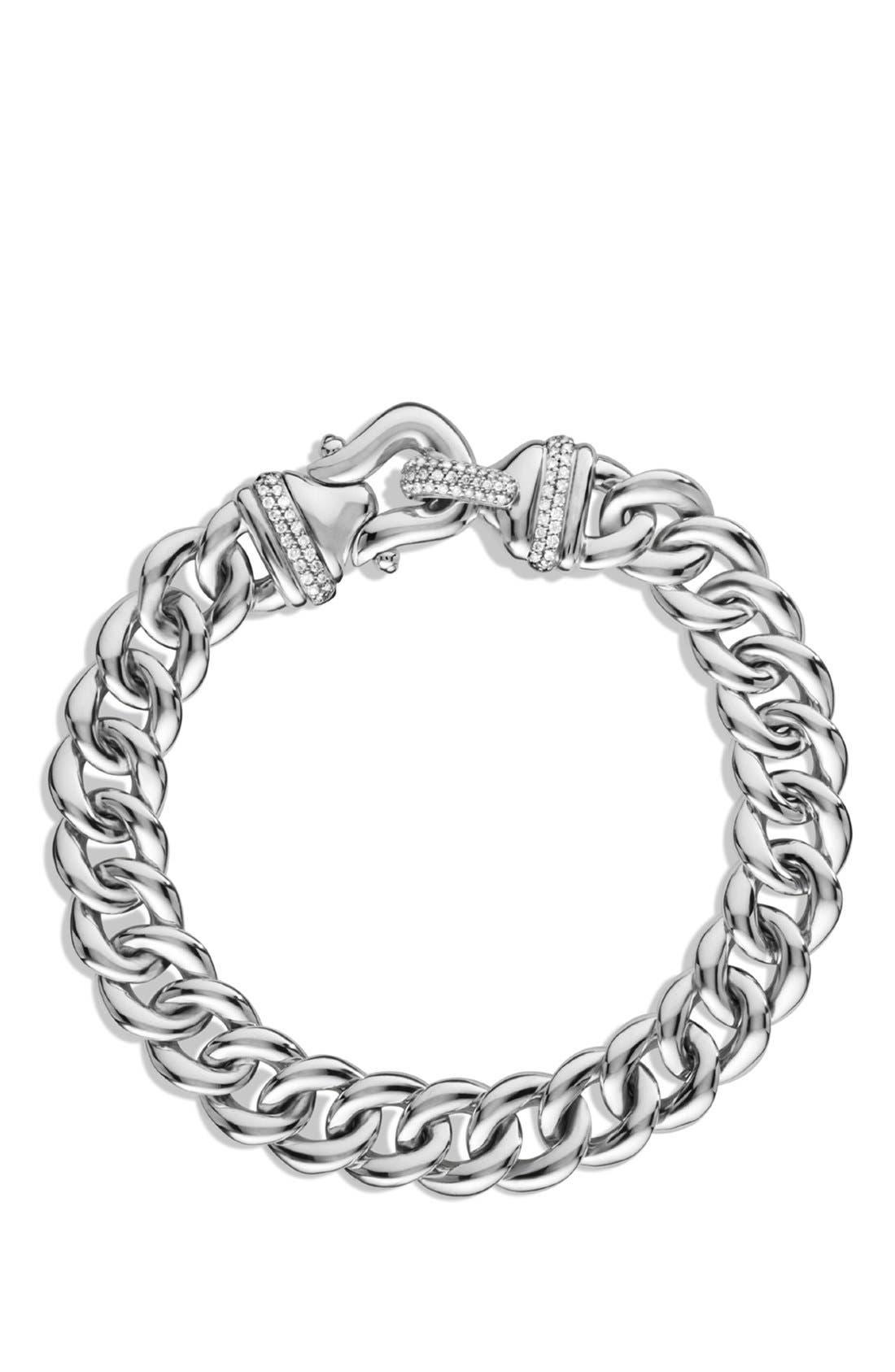 Alternate Image 2  - David Yurman 'Buckle' Single-Row Bracelet with Diamonds