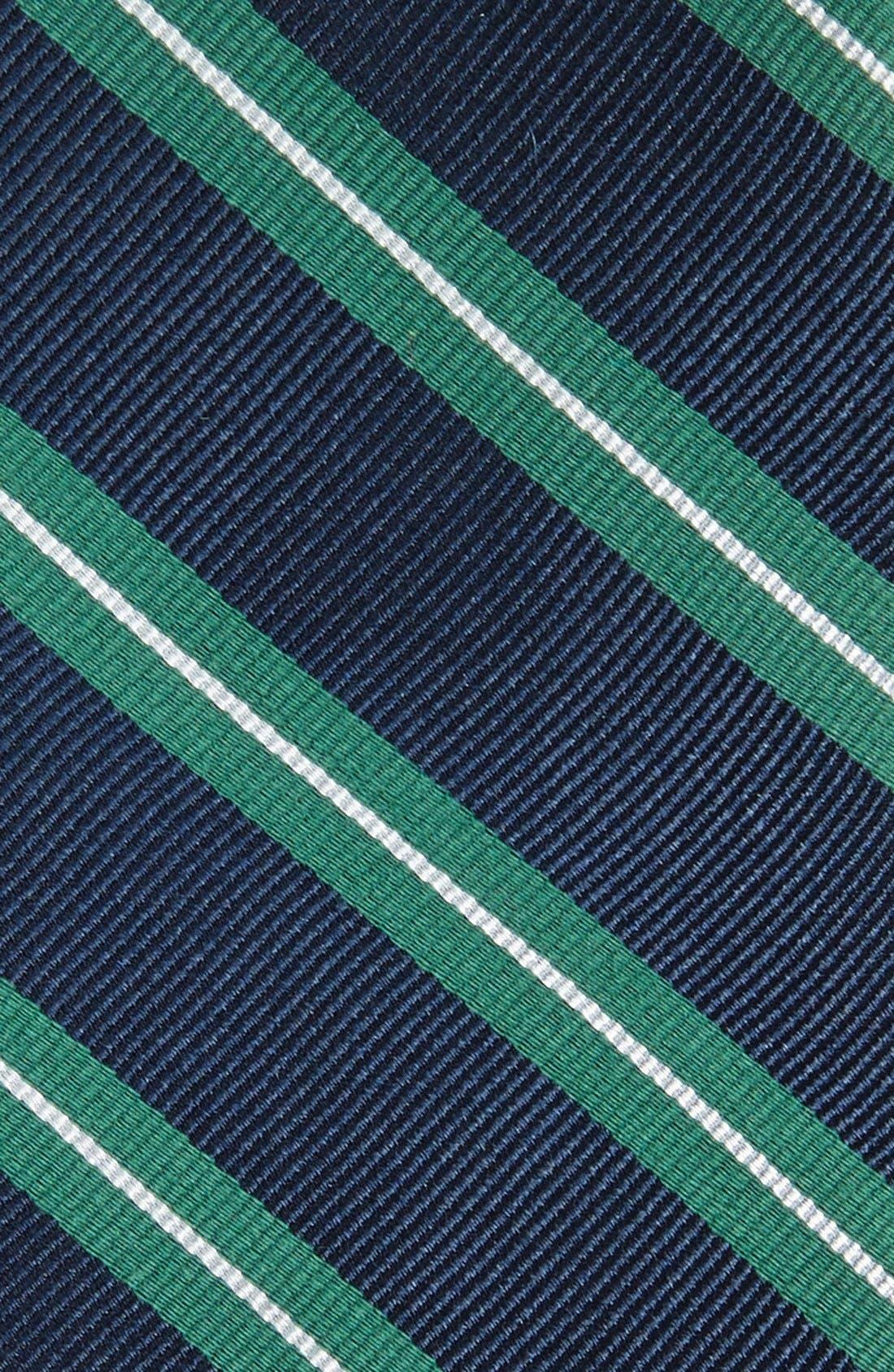 Alternate Image 2  - 1901 'Morrison Stripe' Woven Silk & Cotton Tie