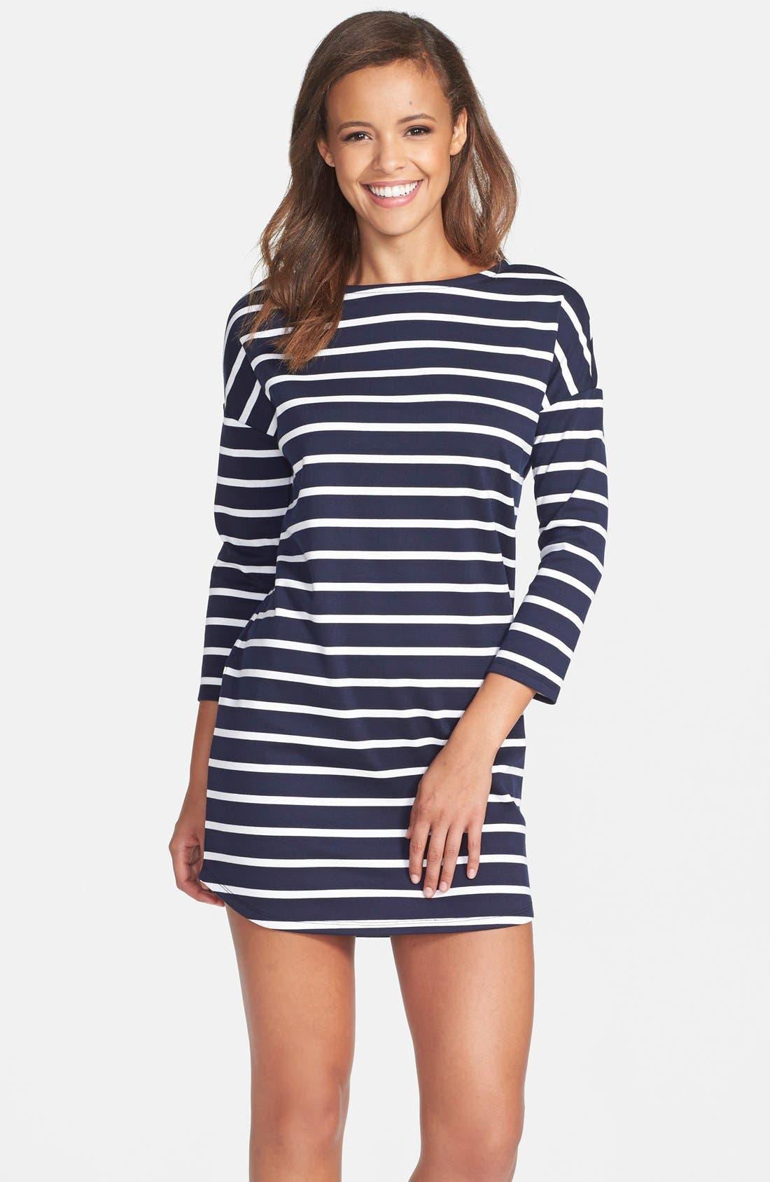 Main Image - BB Dakota 'Phillipa' Stripe Ponte Shift Dress