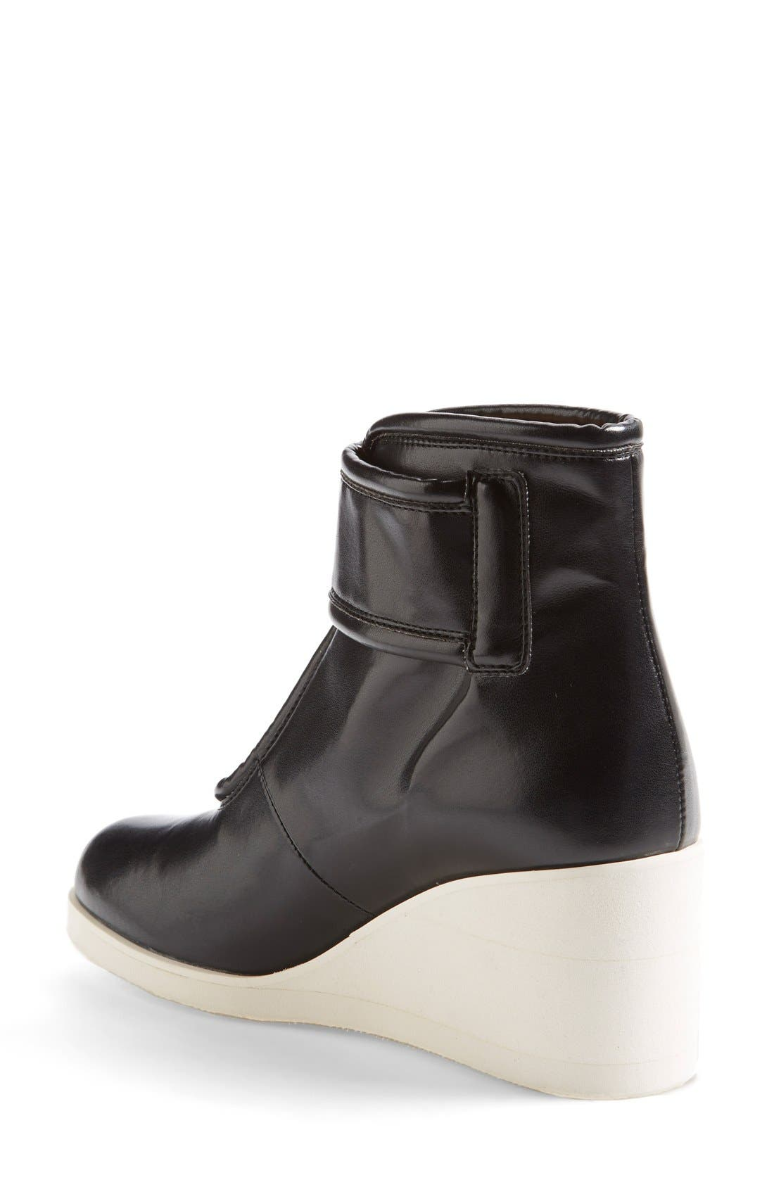 Alternate Image 2  - MM6 Maison Margiela Nappa Leather Wedge Bootie (Women)