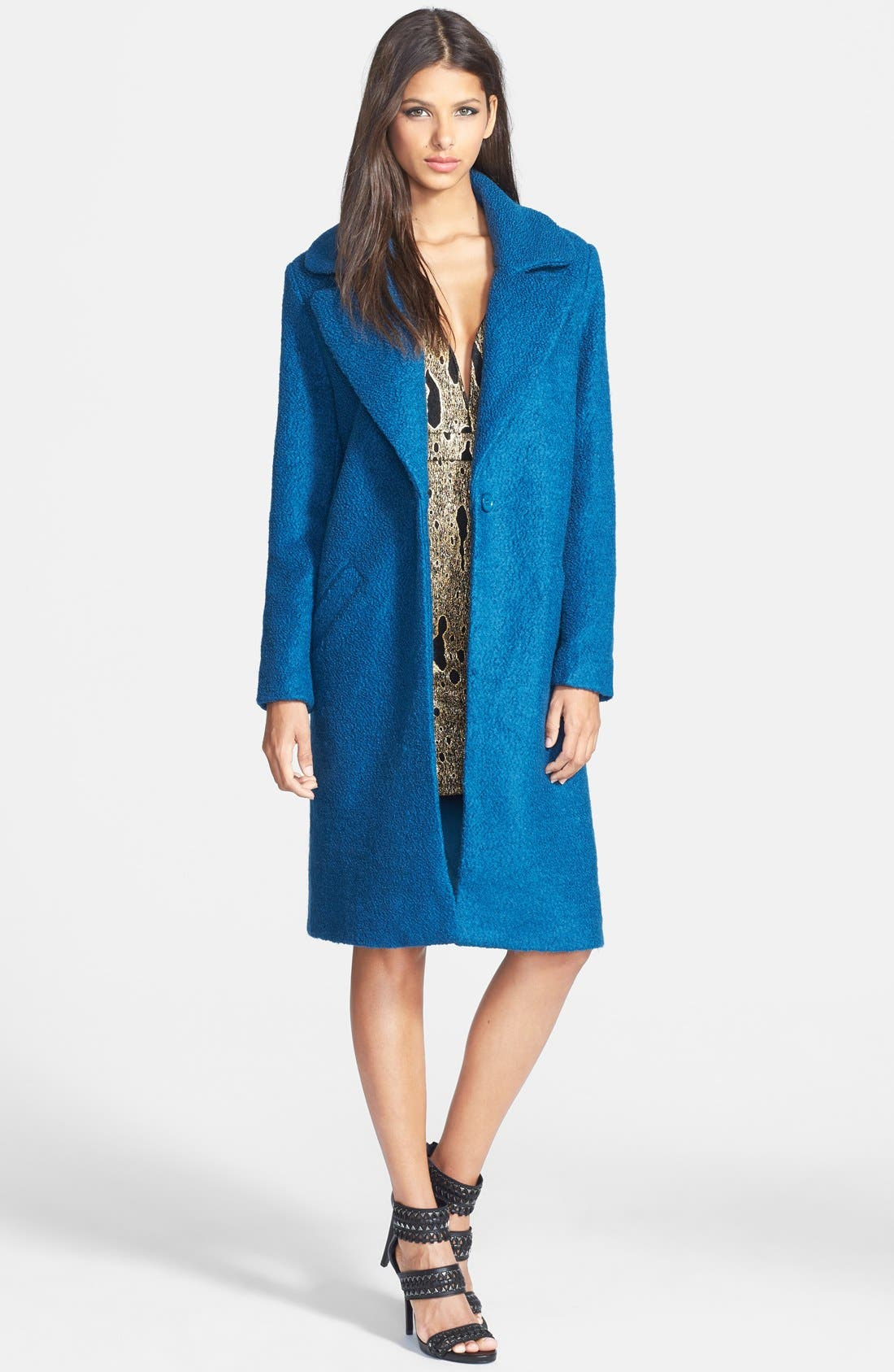 Alternate Image 1 Selected - Glamorous Long Car Coat