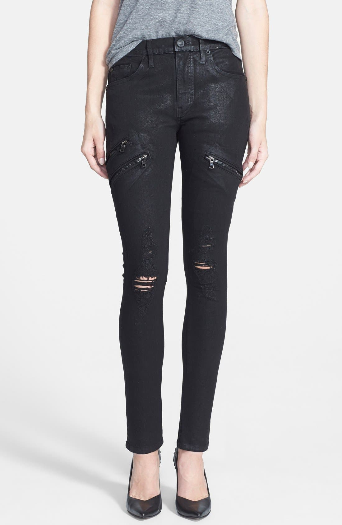 Main Image - Hudson Jeans 'Catalyst' Slouch Jeans (Waxed Skylark)