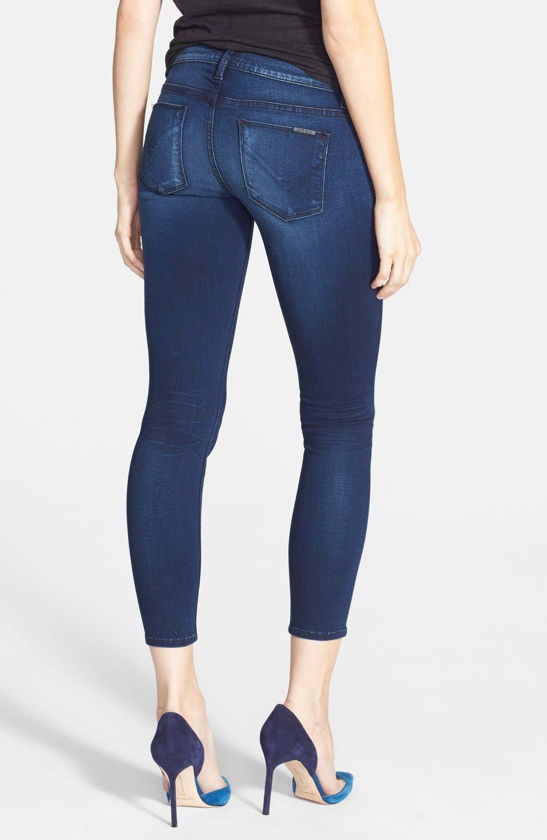Alternate Image 2  - Hudson Jeans 'Krista' Super Skinny Crop Jeans (Contrary)