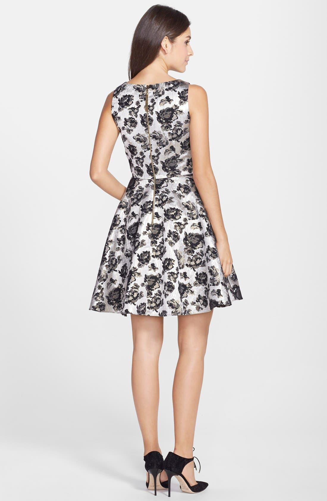 Alternate Image 2  - Hailey by Adrianna Papell Brocade Fit & Flare Dress