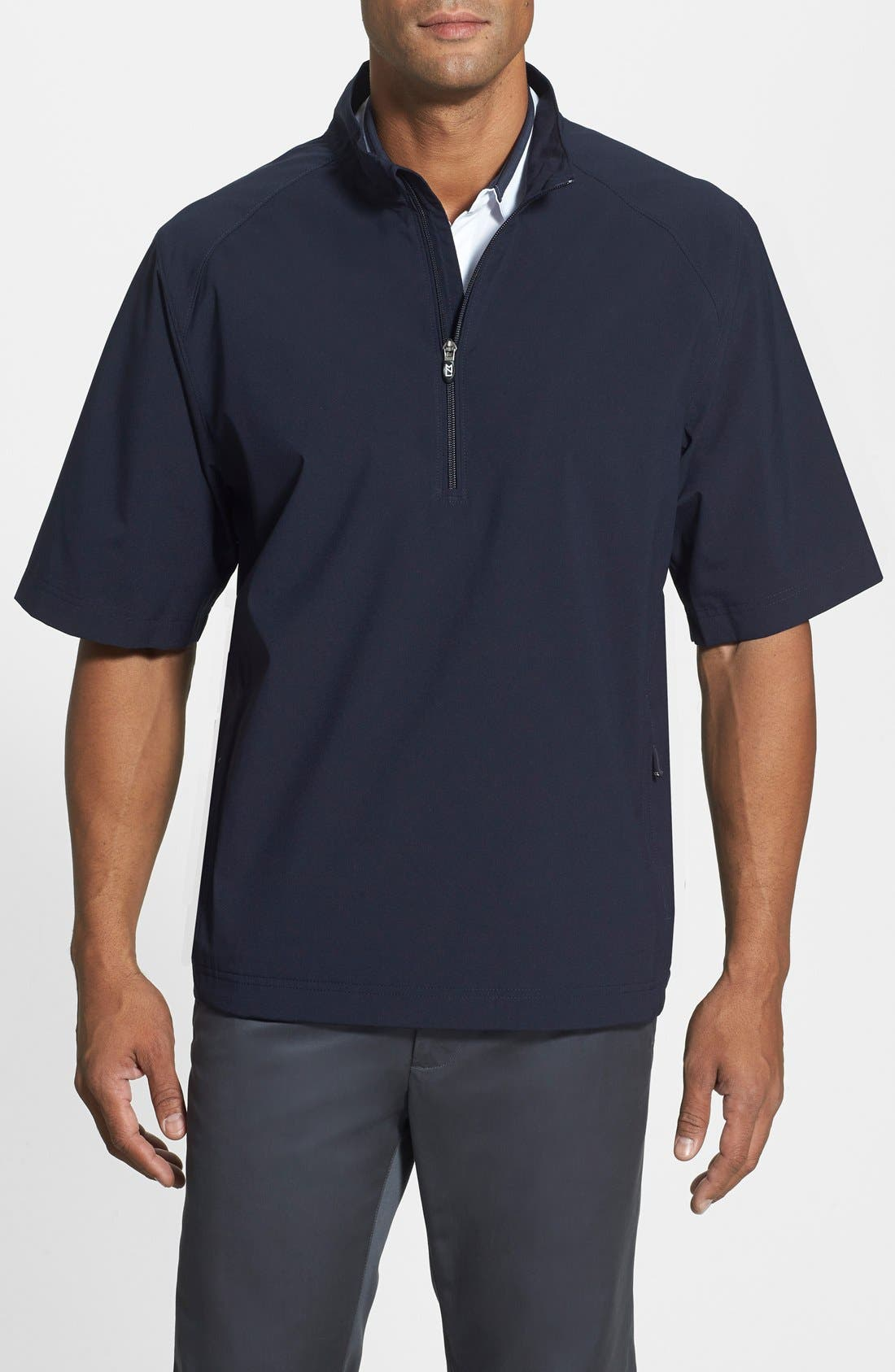 'WeatherTec Summit' Short Sleeve Shirt,                         Main,                         color, Navy Blue