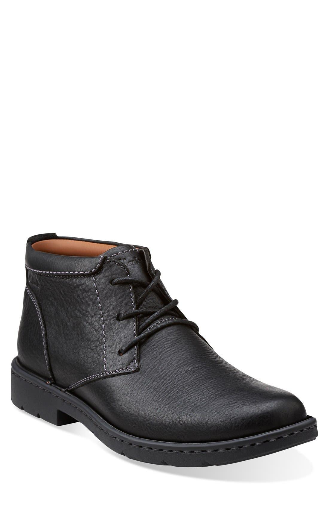 Clarks® 'Stratton - Limit' Plain Toe Boot (Men)
