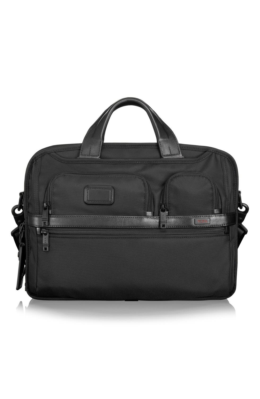 Alpha 2 T-Pass<sup>™</sup> Laptop Briefcase,                             Main thumbnail 1, color,                             Black