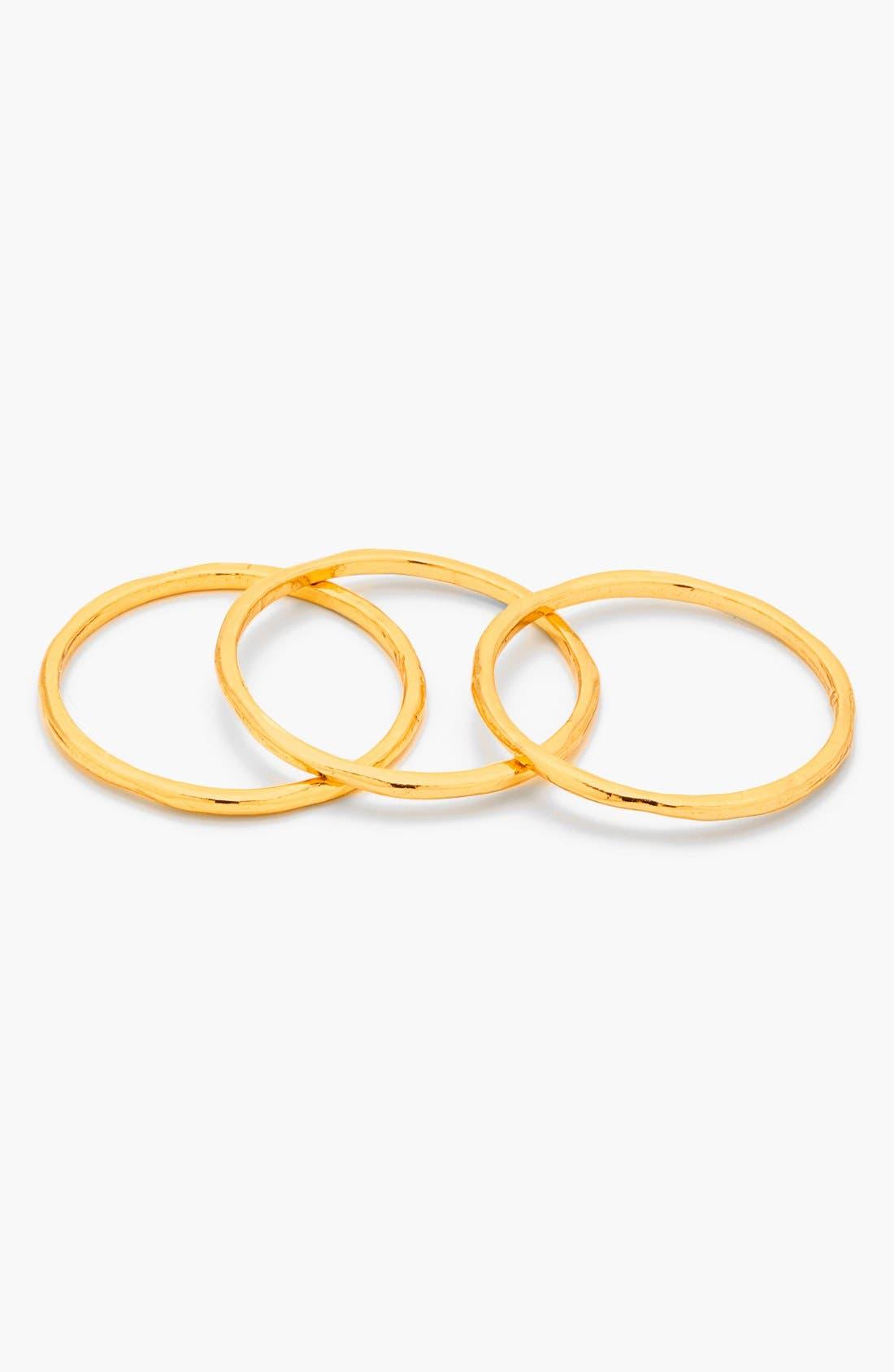 Alternate Image 3  - gorjana 'G Ring' Midi Rings (Set of 3)
