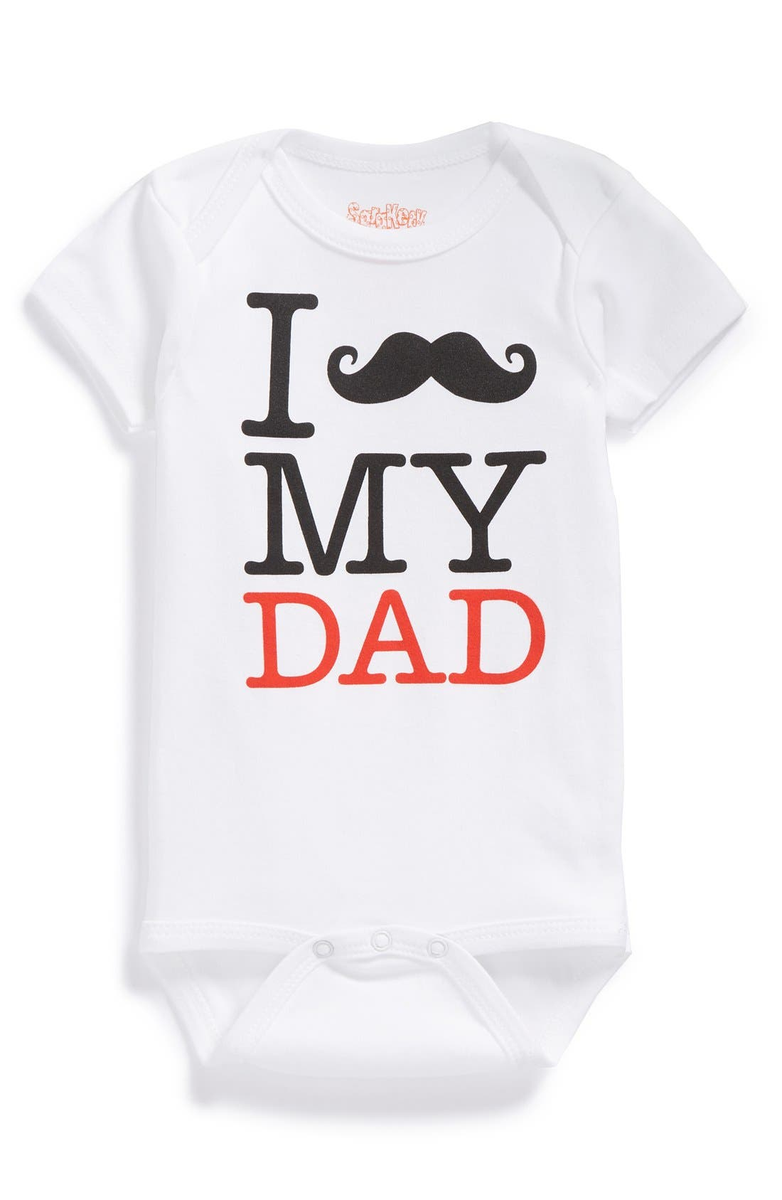 Alternate Image 1 Selected - Sara Kety Baby & Kids 'Mustache My Dad' Bodysuit (Baby Boys)