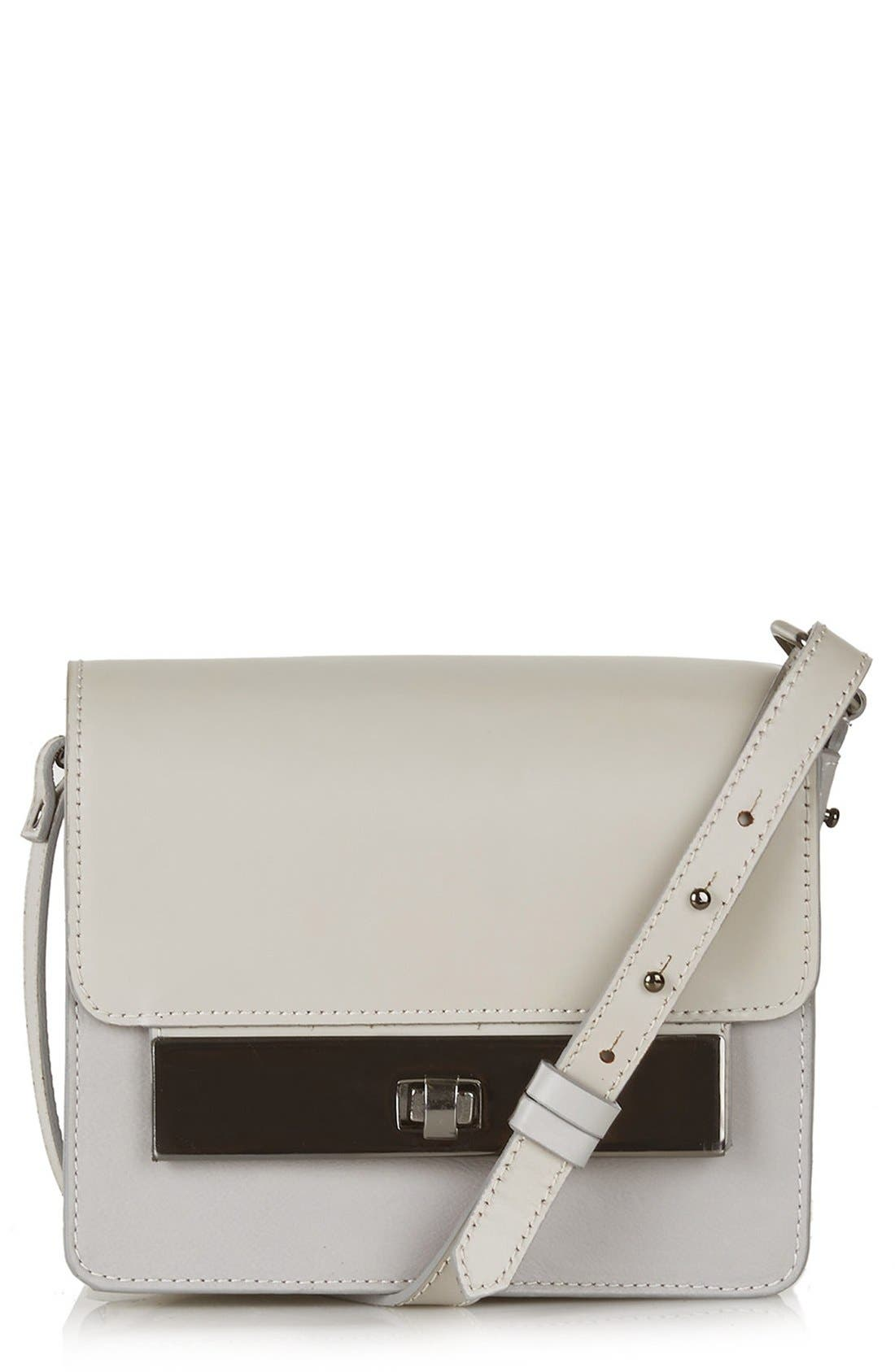 Main Image - Topshop Premium Plate Shoulder Bag