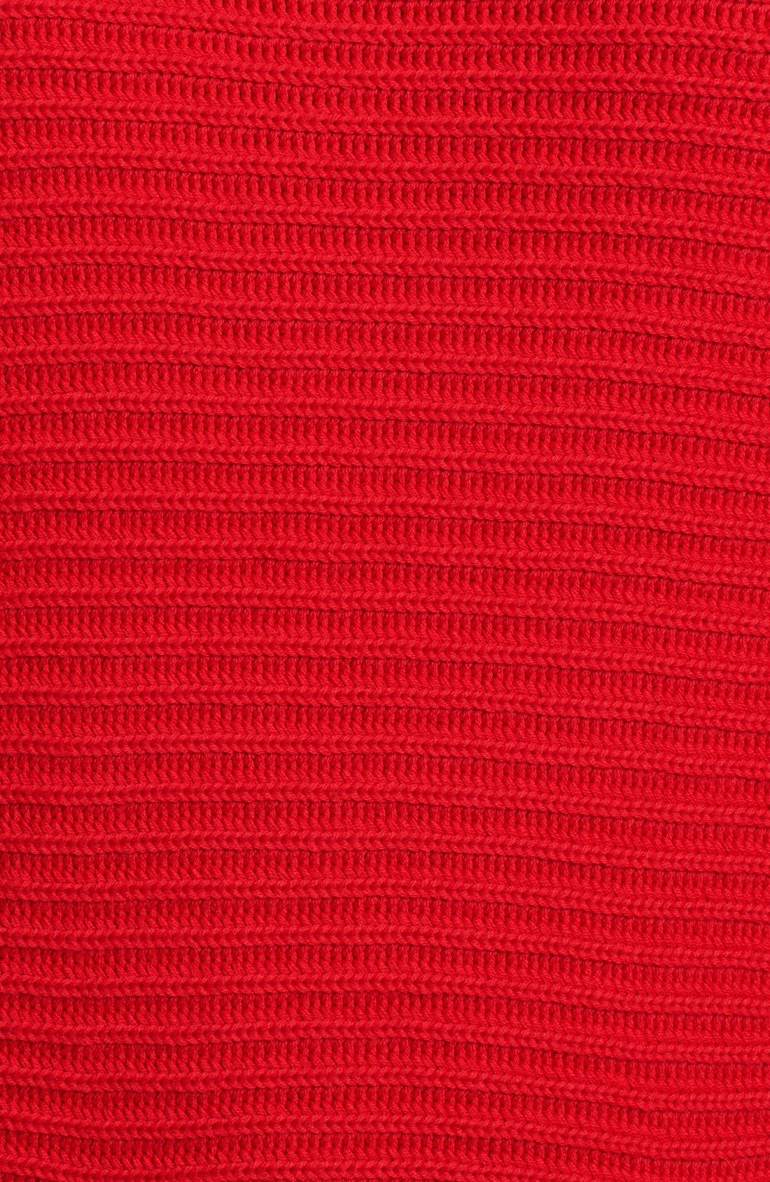 Boatneck Sweater,                             Alternate thumbnail 3, color,                             Cherry