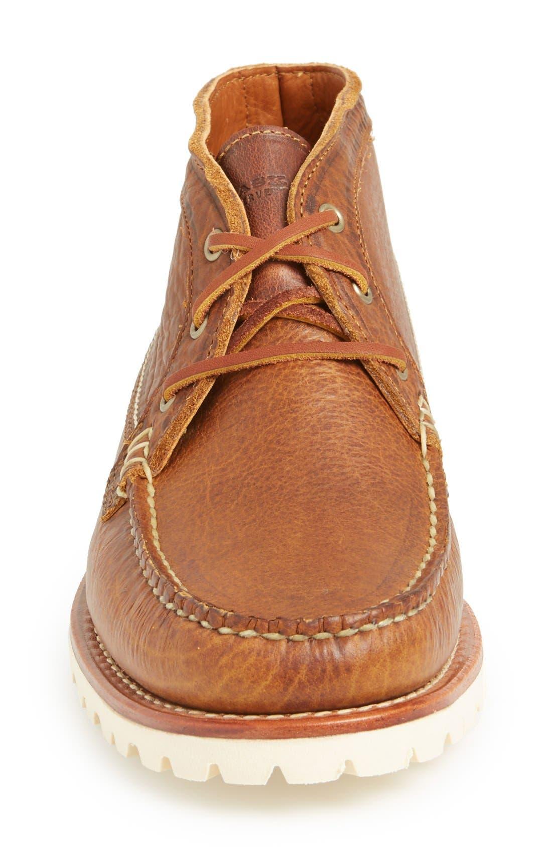 'Charlo' Moc Toe Boot,                             Alternate thumbnail 3, color,                             Whiskey