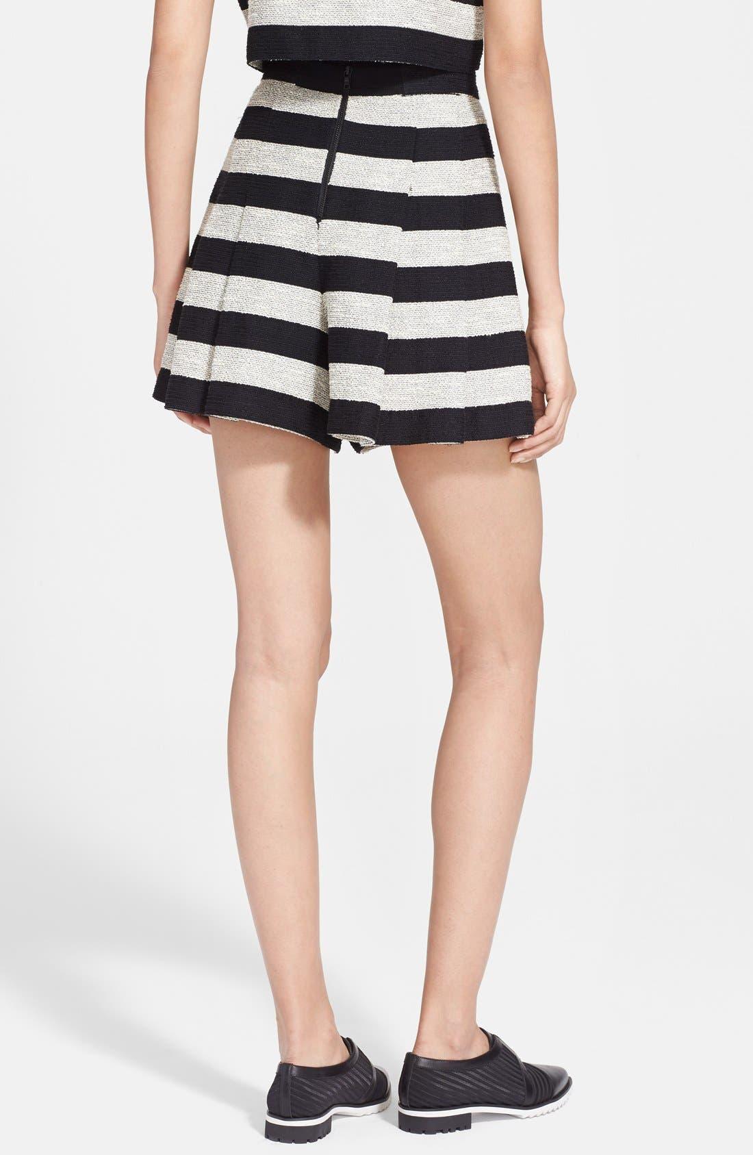 Alternate Image 2  - Alice + Olivia Stripe Tweed Skirt