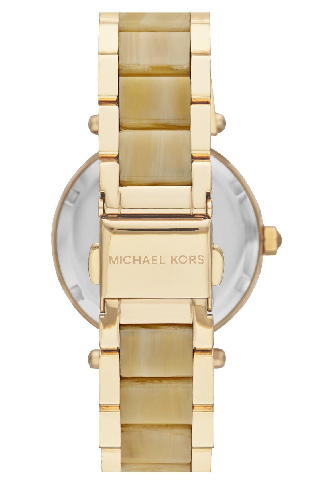 Alternate Image 2  - Michael Kors 'Mini Parker' Crystal Bezel Bracelet Watch, 33mm