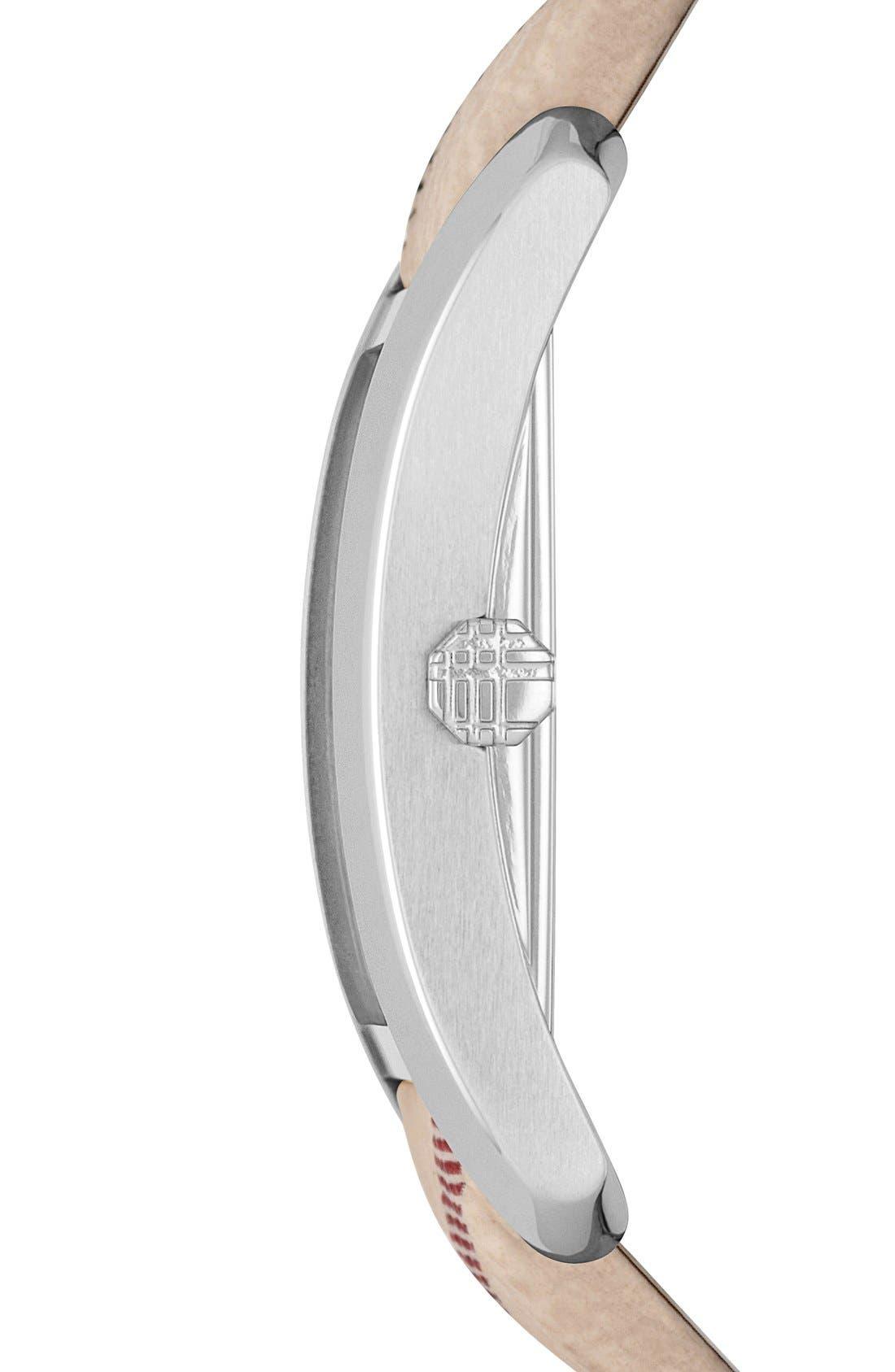 Alternate Image 3  - Burberry Rectangular Check Strap Watch, 20mm x 26mm