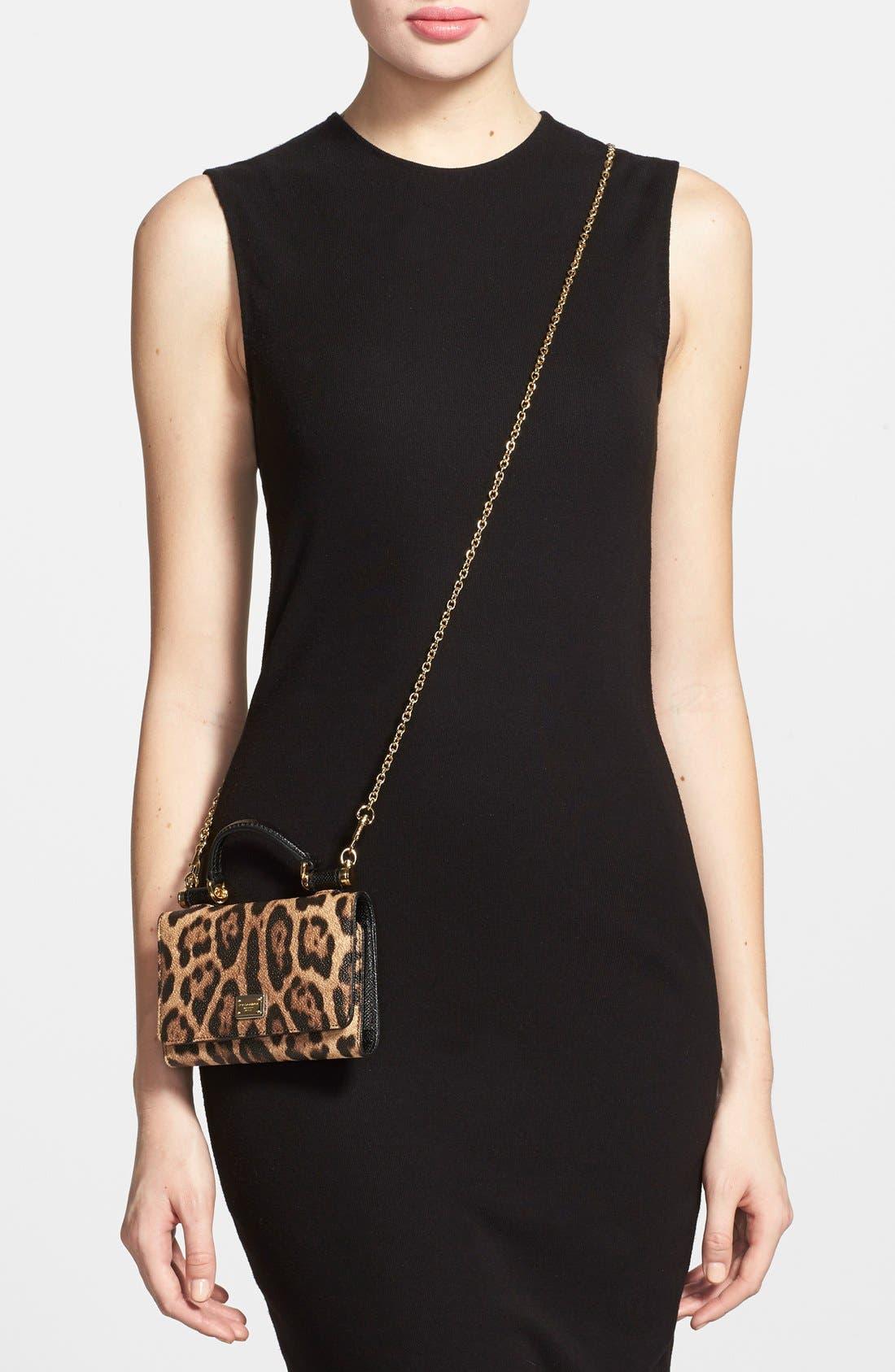 Alternate Image 2  - Dolce&Gabbana Leopard Print Smartphone Wallet