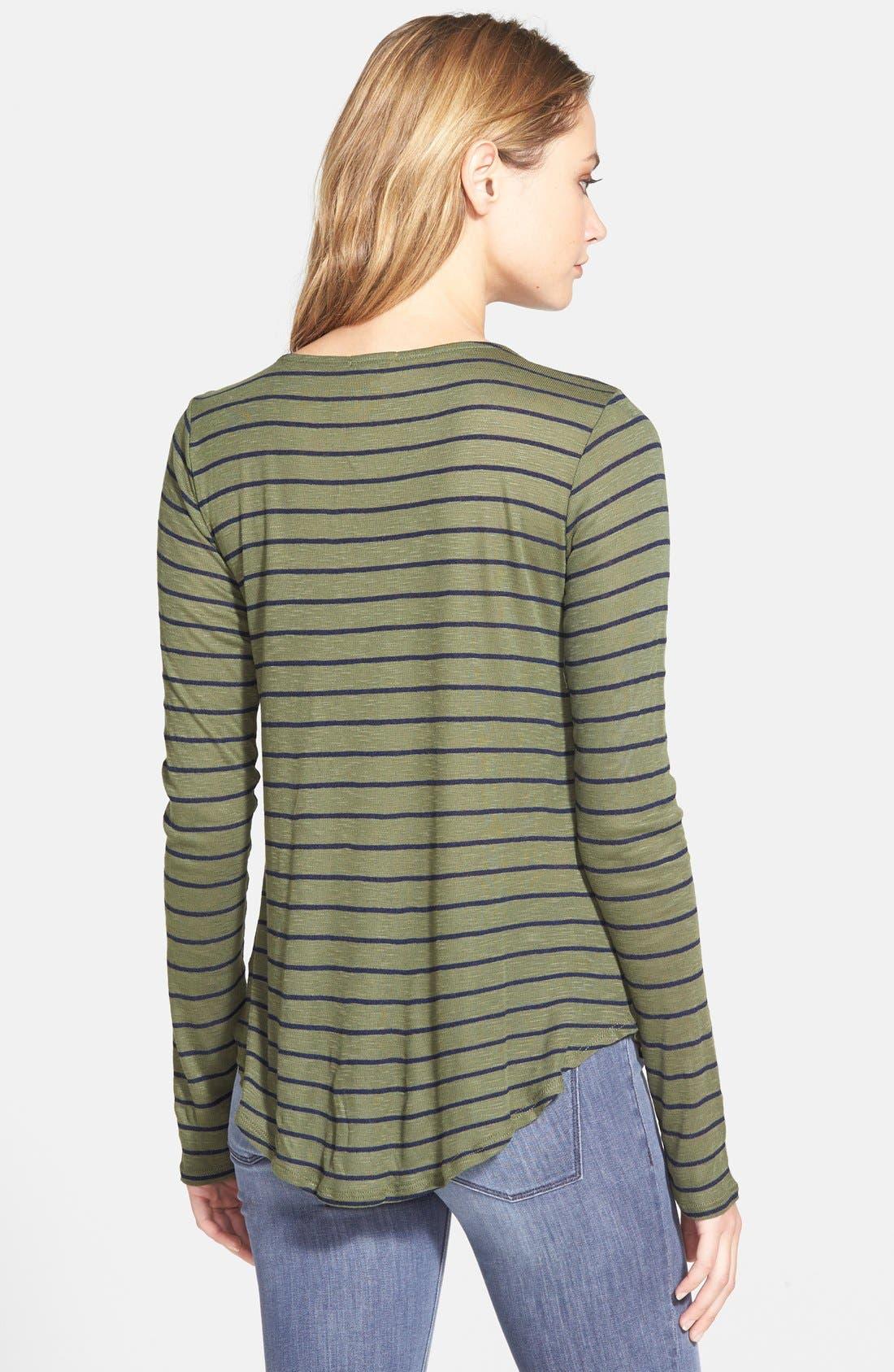 Alternate Image 2  - Splendid 'New Haven' Stripe Long Sleeve Tee