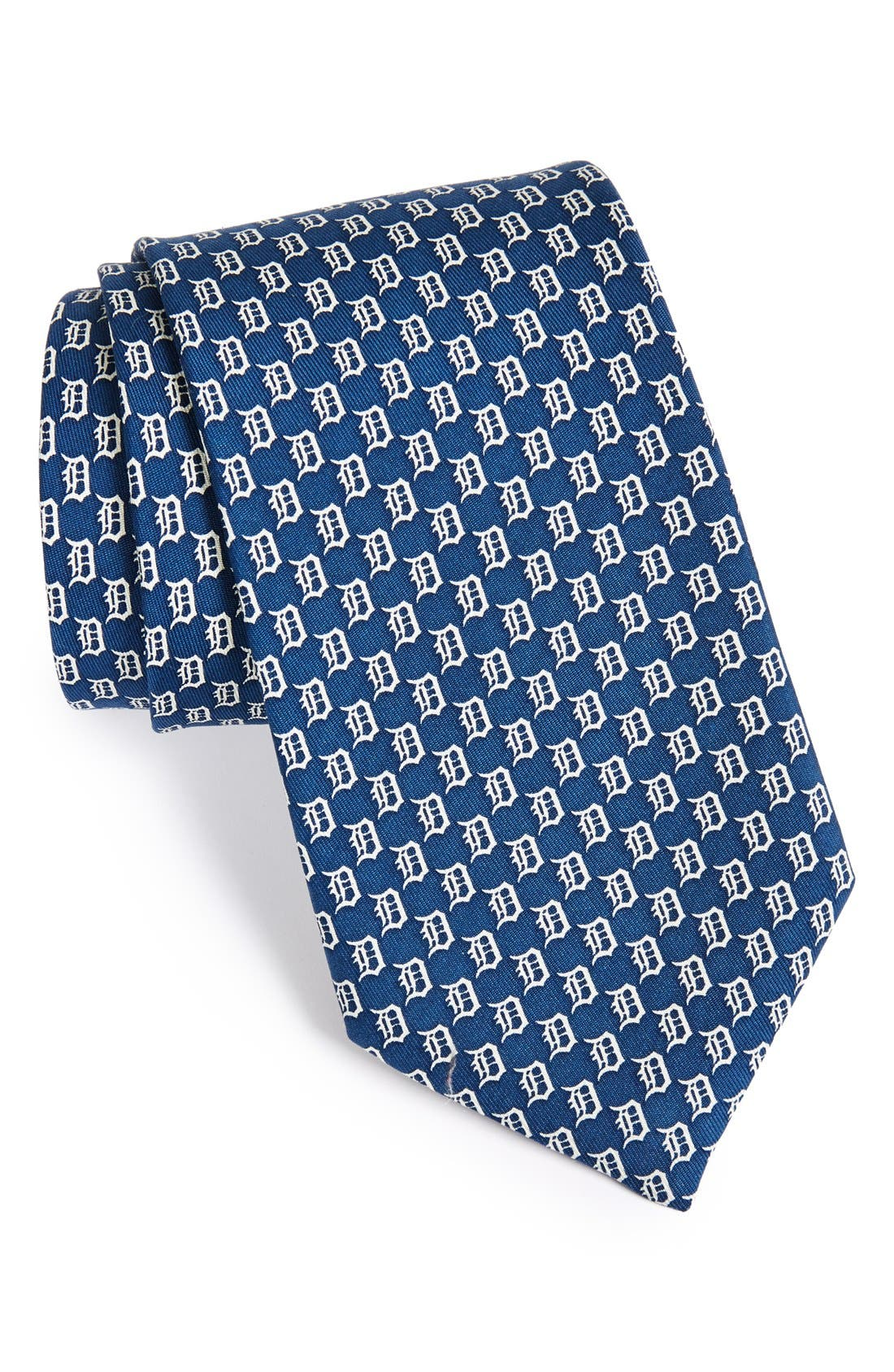 'Detroit Tigers - MLB' Woven Silk Tie,                         Main,                         color, Vineyard Navy
