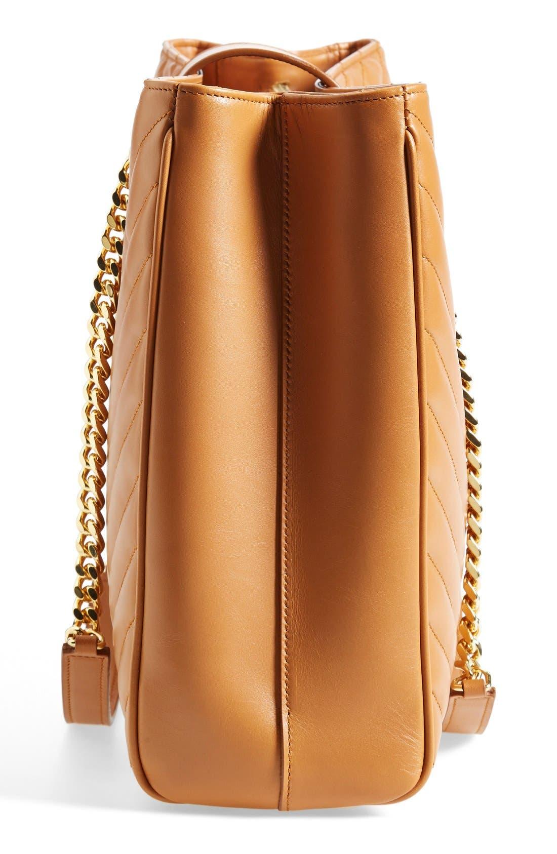 Alternate Image 4  - Saint Laurent 'Cassandre' Leather Shopper