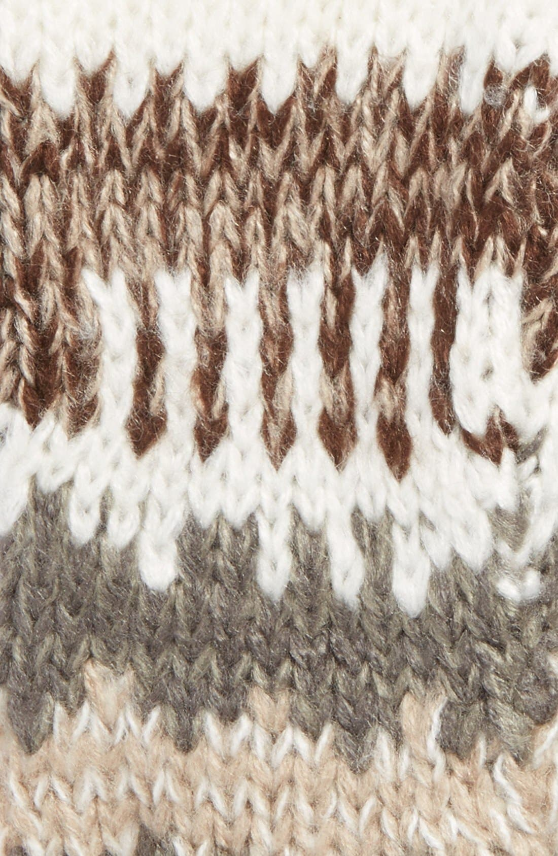 Alternate Image 2  - Michael Stars Stripe Fingerless Gloves